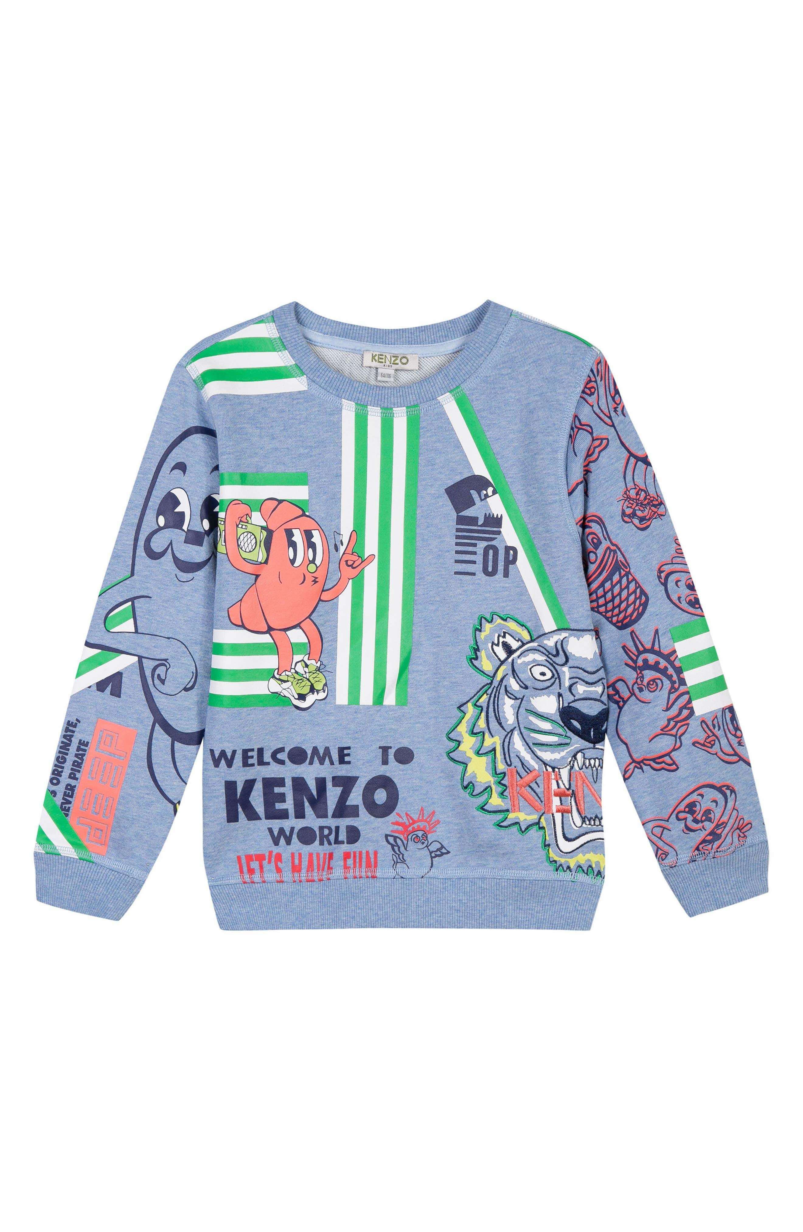 KENZO Logo Print Sweatshirt (Toddler Boys, Little Boys & Big Boys)