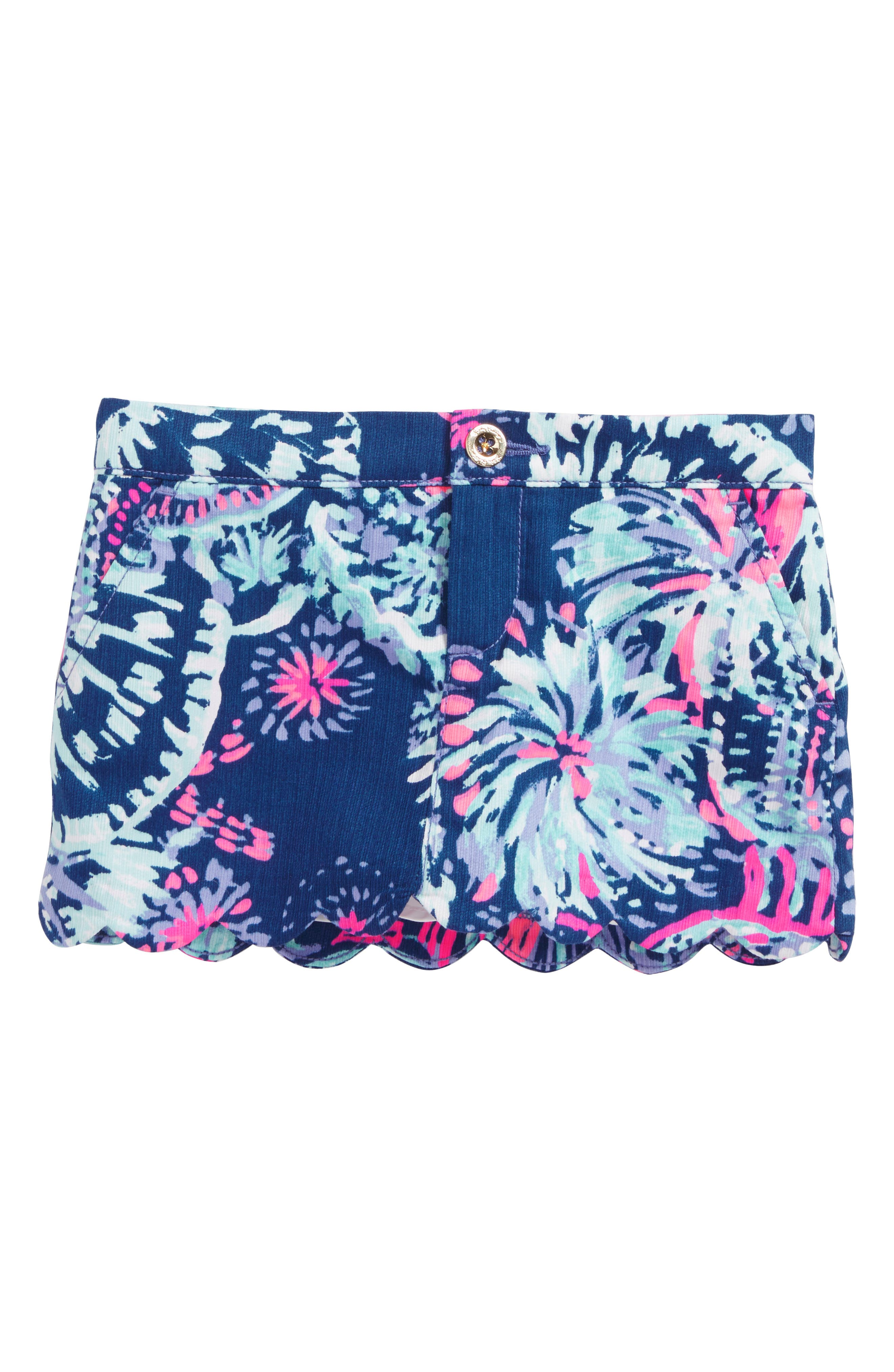 Mini Colette Scalloped Skort,                         Main,                         color, Deep Indigo Gypsea Girl