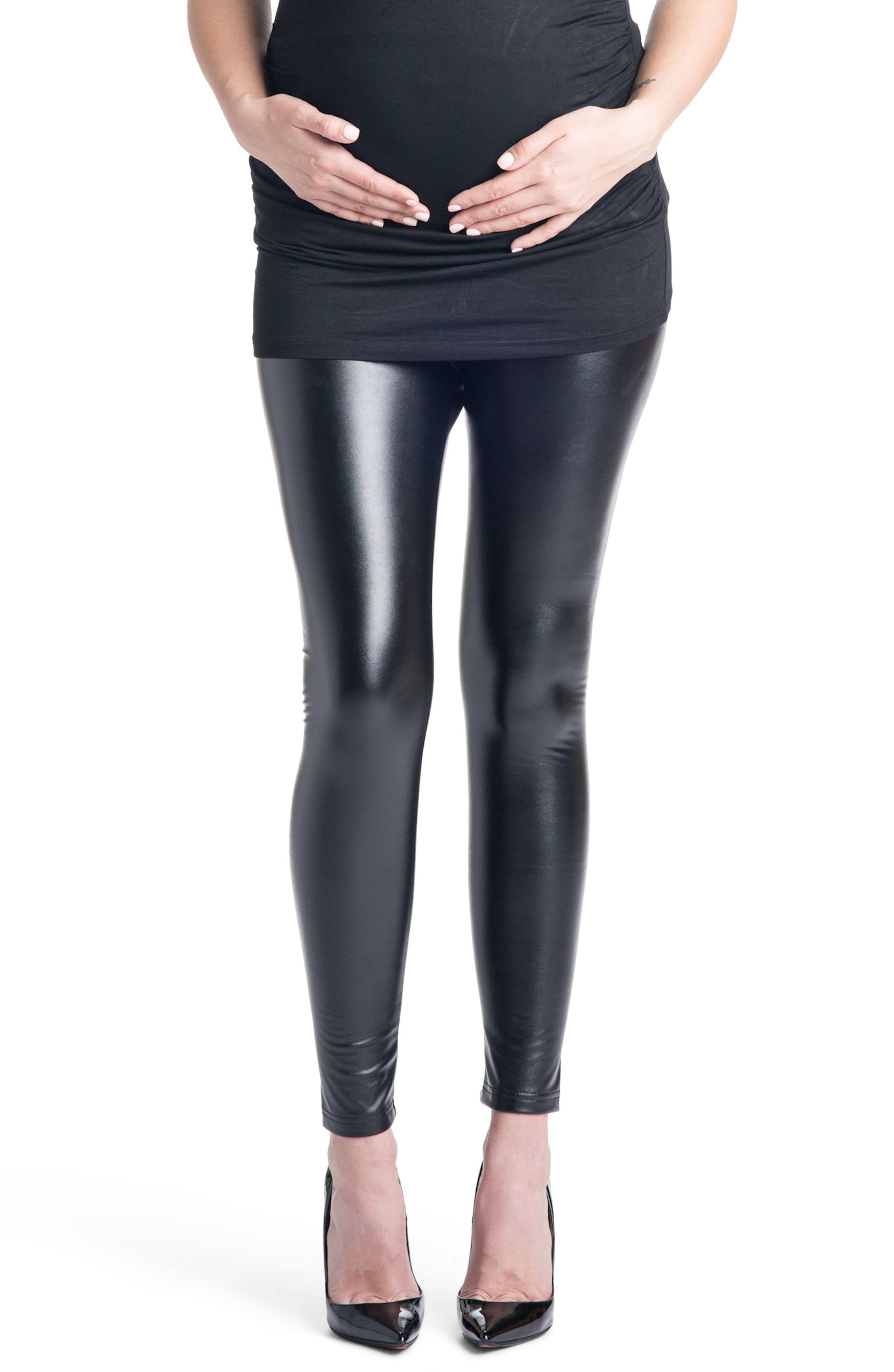 Rock Star Mamacita Maternity Leggings,                         Main,                         color, Black