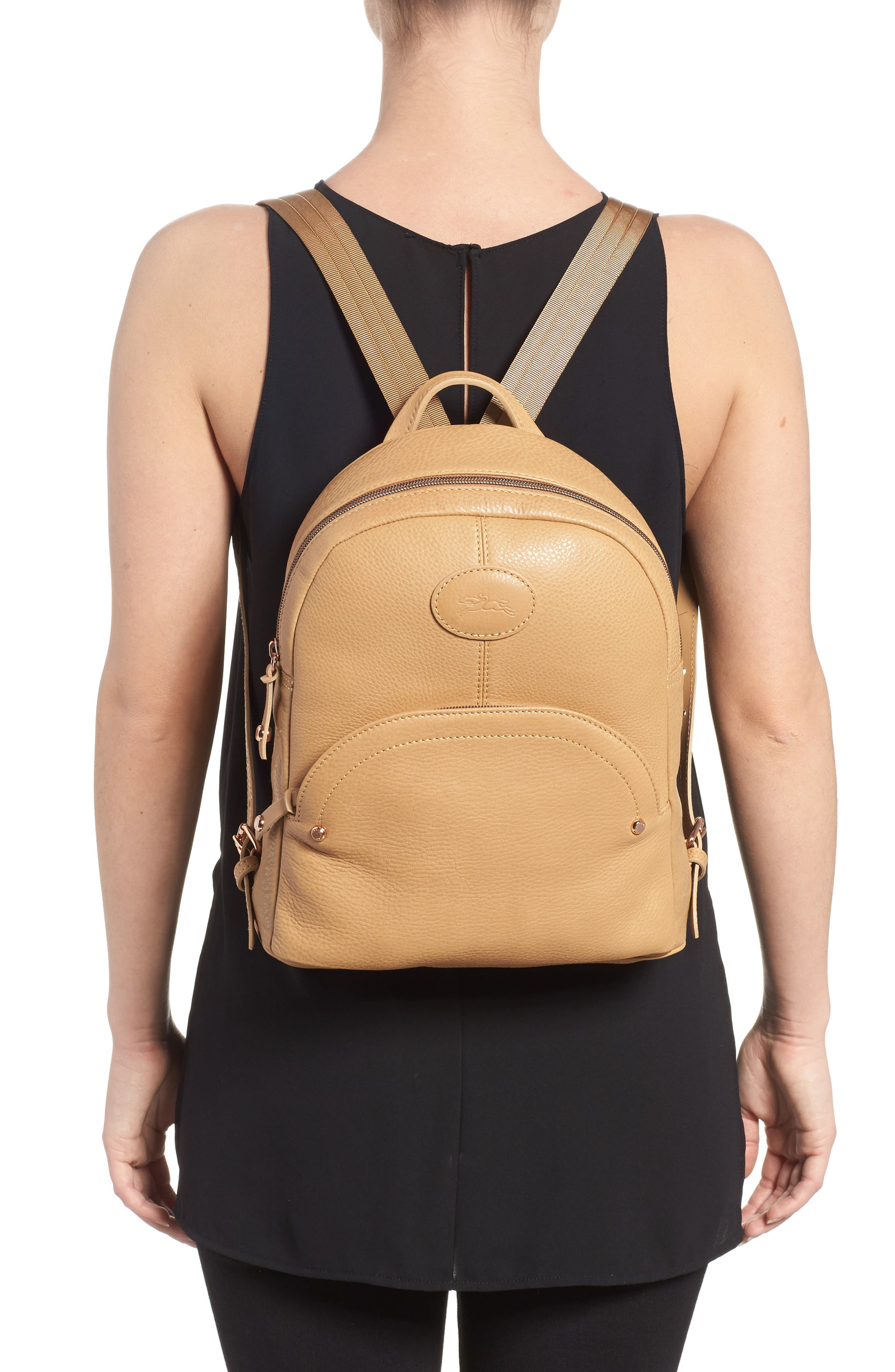 Mystery Leather Backpack,                             Alternate thumbnail 2, color,                             Natural
