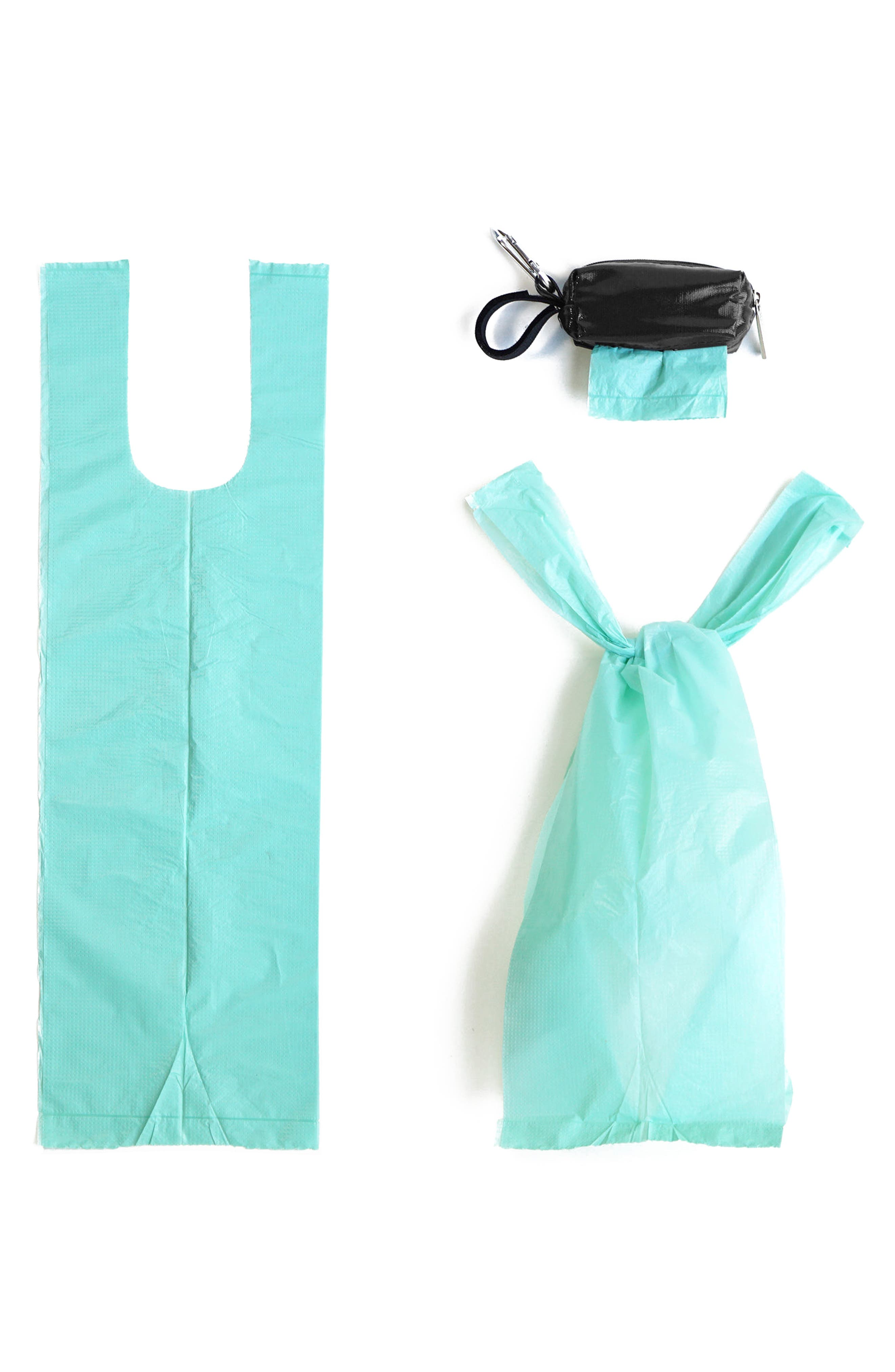 Portable Clip-On Dispenser & Bag Set,                             Alternate thumbnail 3, color,                             Black