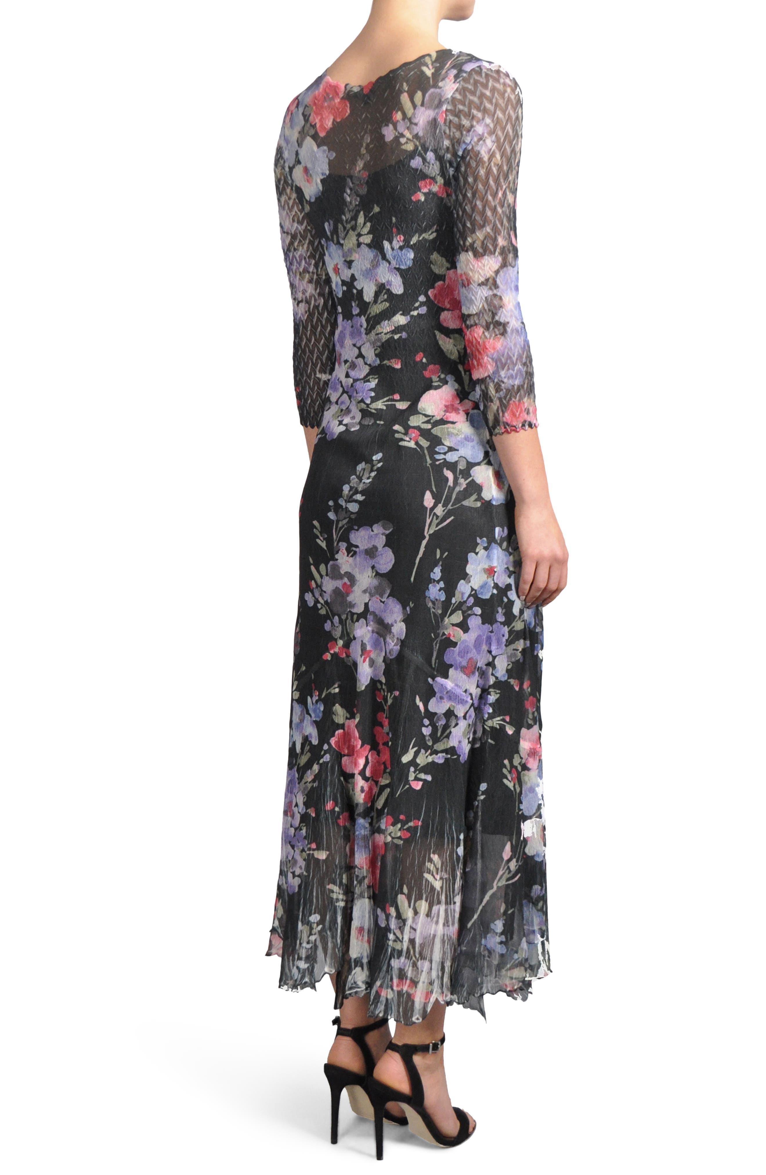 Print A-Line Dress,                             Alternate thumbnail 2, color,                             Eternal Bloom