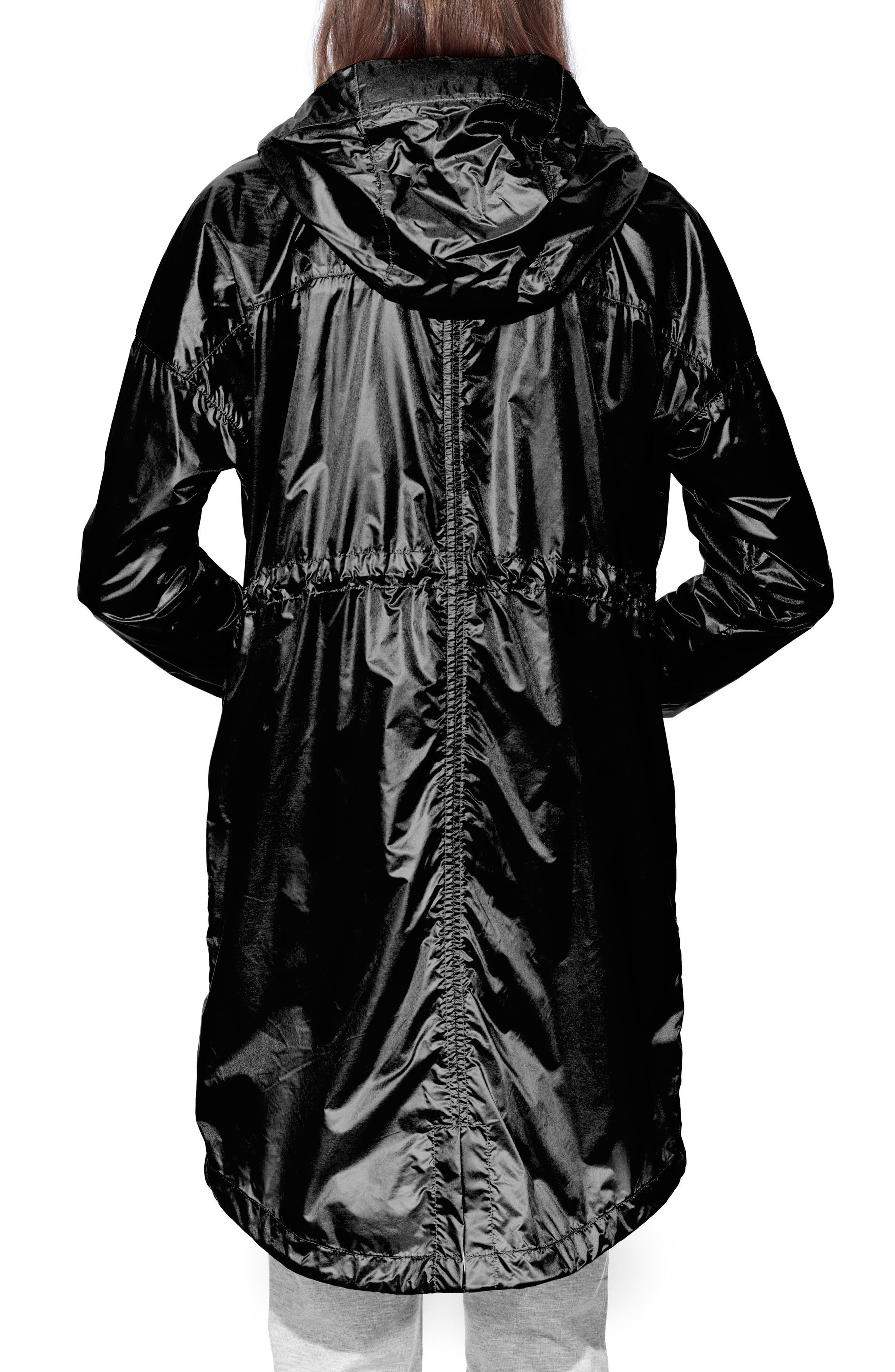 Rosewell Hooded Jacket,                             Alternate thumbnail 2, color,                             Black