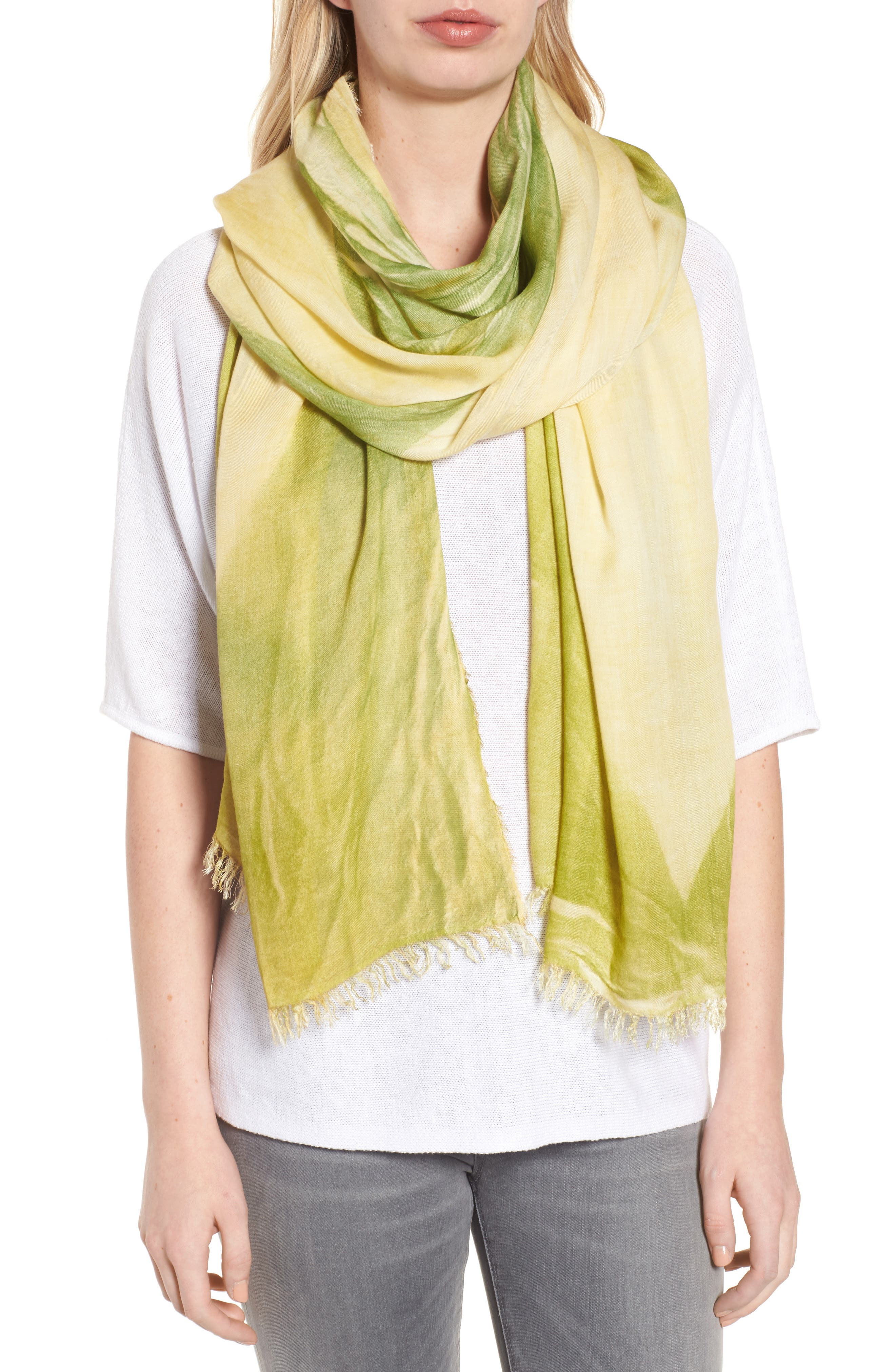 Maltinto Fringe Scarf,                         Main,                         color, Greengrass