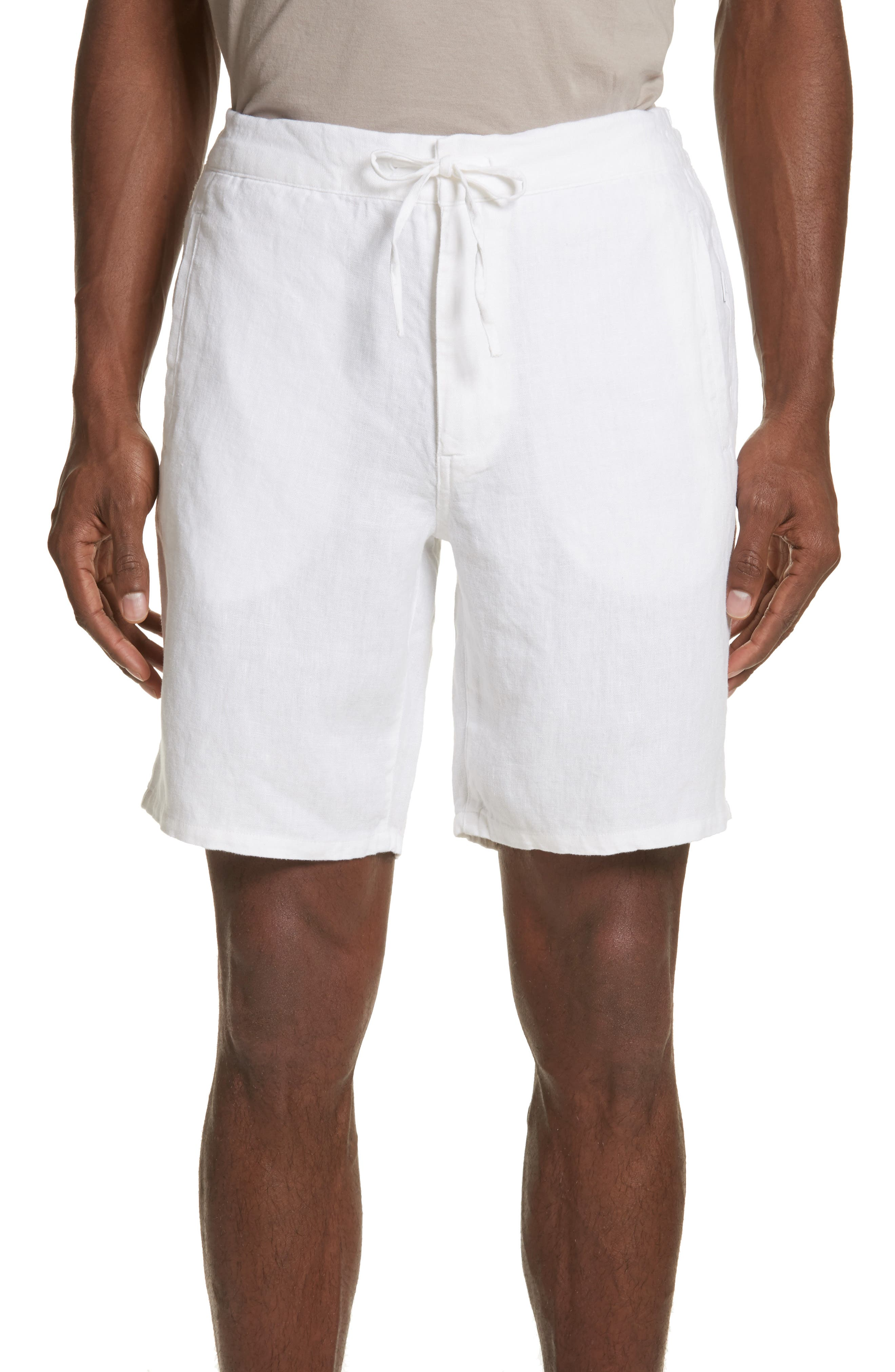 Max Linen Shorts,                         Main,                         color, White