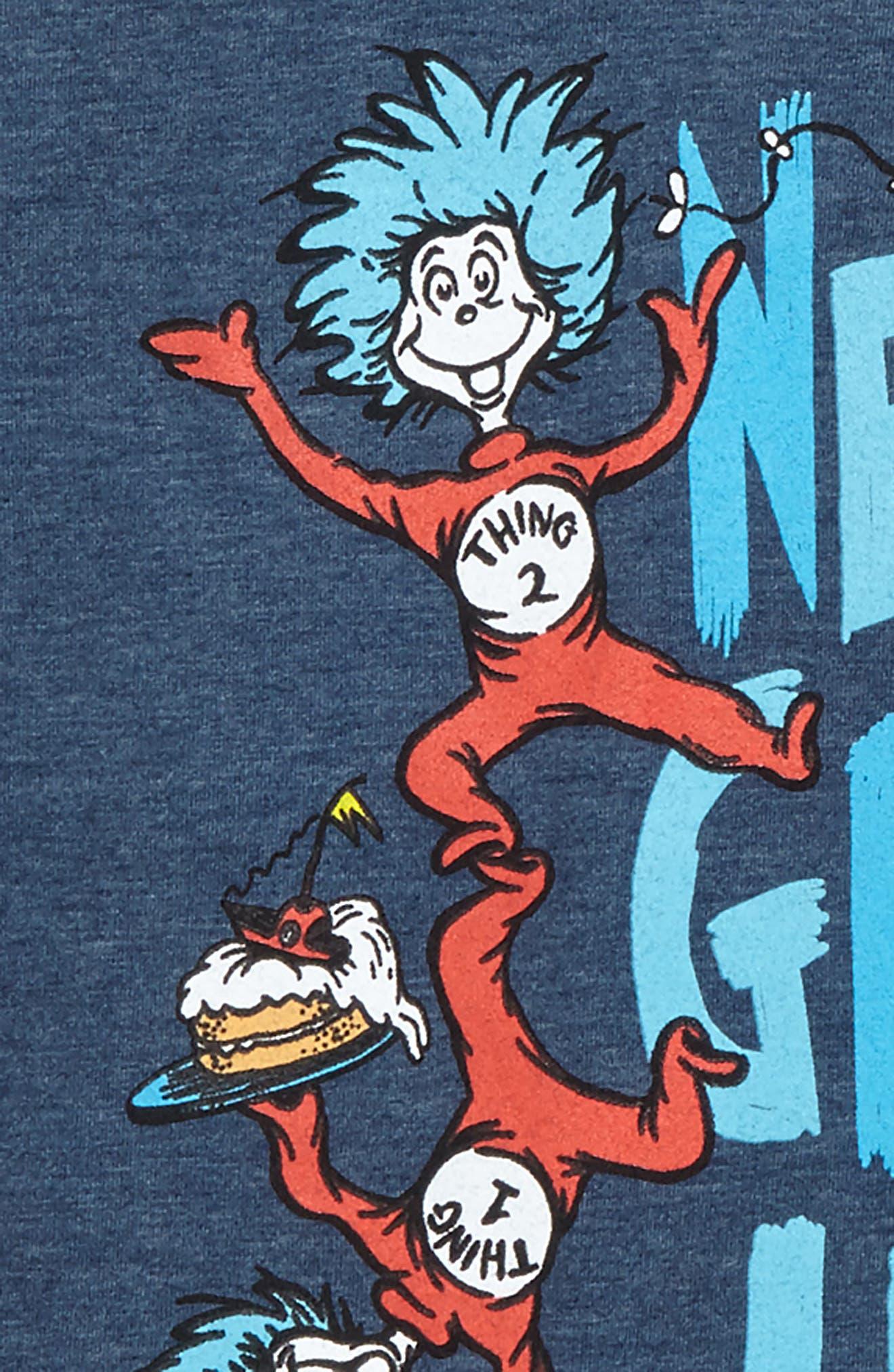 x Dr. Seuss Never Grow Up Graphic T-Shirt,                             Alternate thumbnail 2, color,                             Blue
