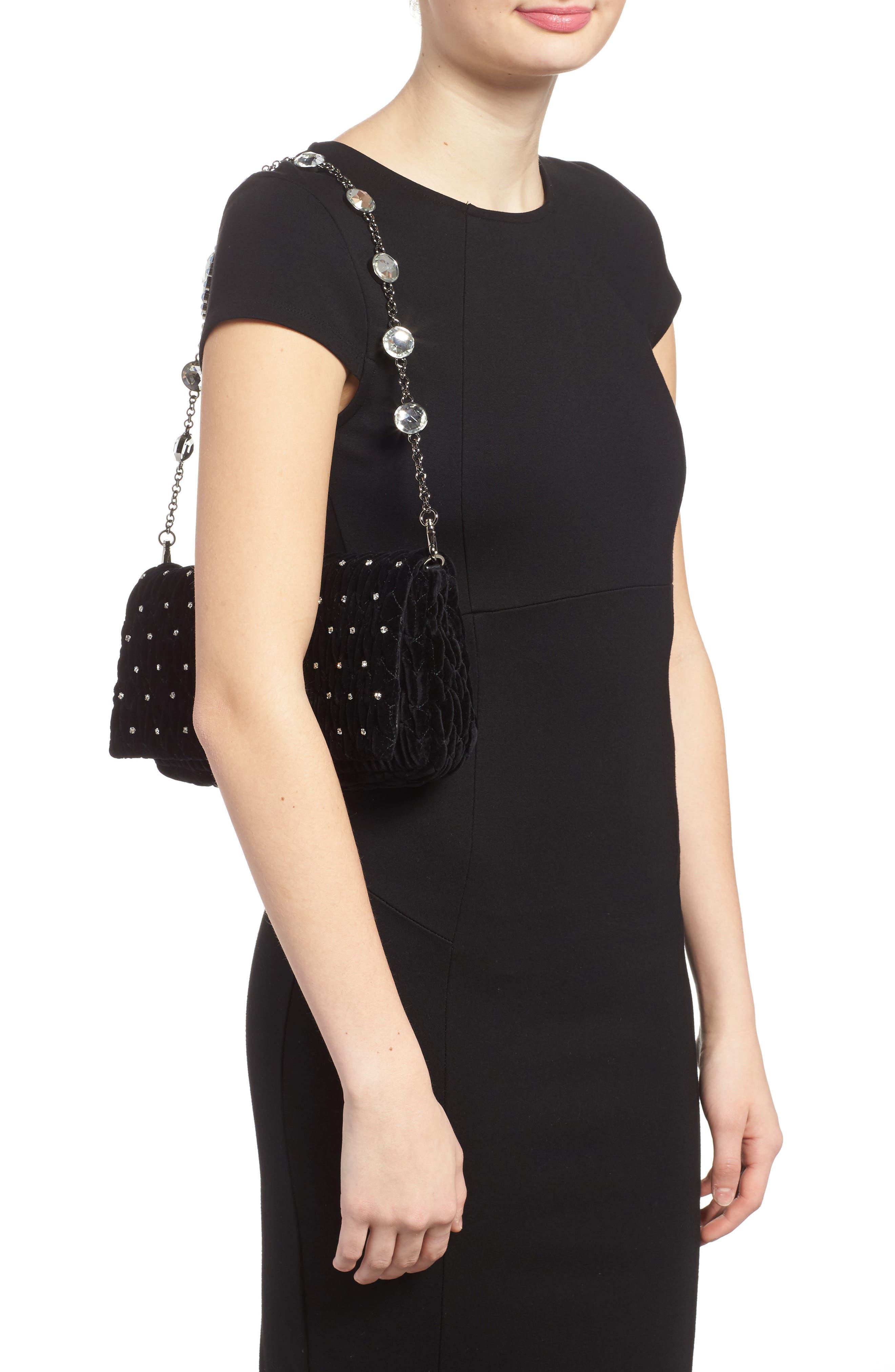 Alternate Image 2  - Miu Miu Crystal Embellished Matelassé Velvet Shoulder Bag