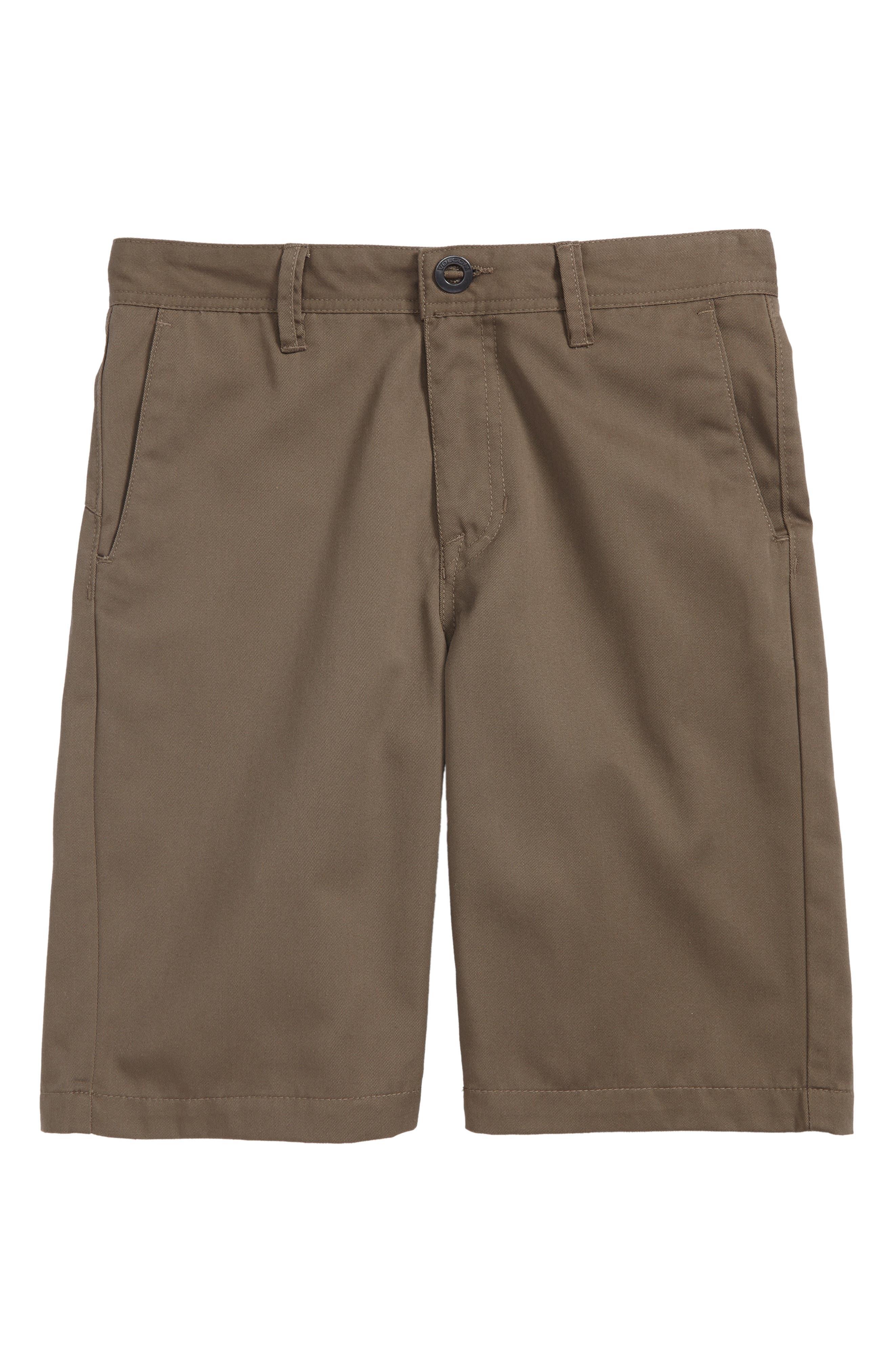 Alternate Image 1 Selected - Volcom Chino Shorts (Big Boys)