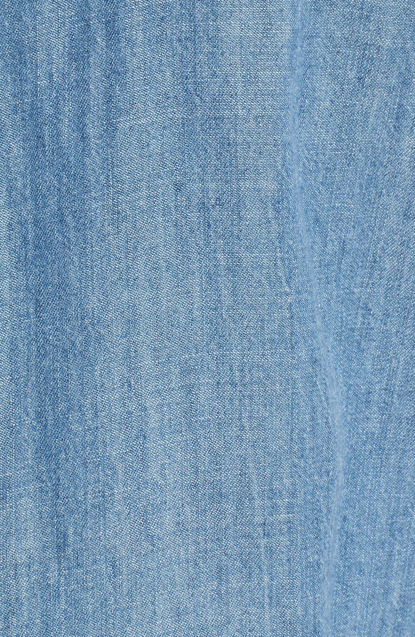 Kade Denim Shirt,                             Alternate thumbnail 5, color,                             Medium Vintage
