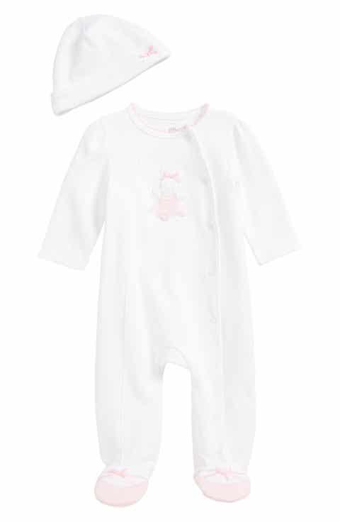 Baby girl pajamas sleepwear nordstrom little me ballet bunny footie beanie set baby girls negle Gallery