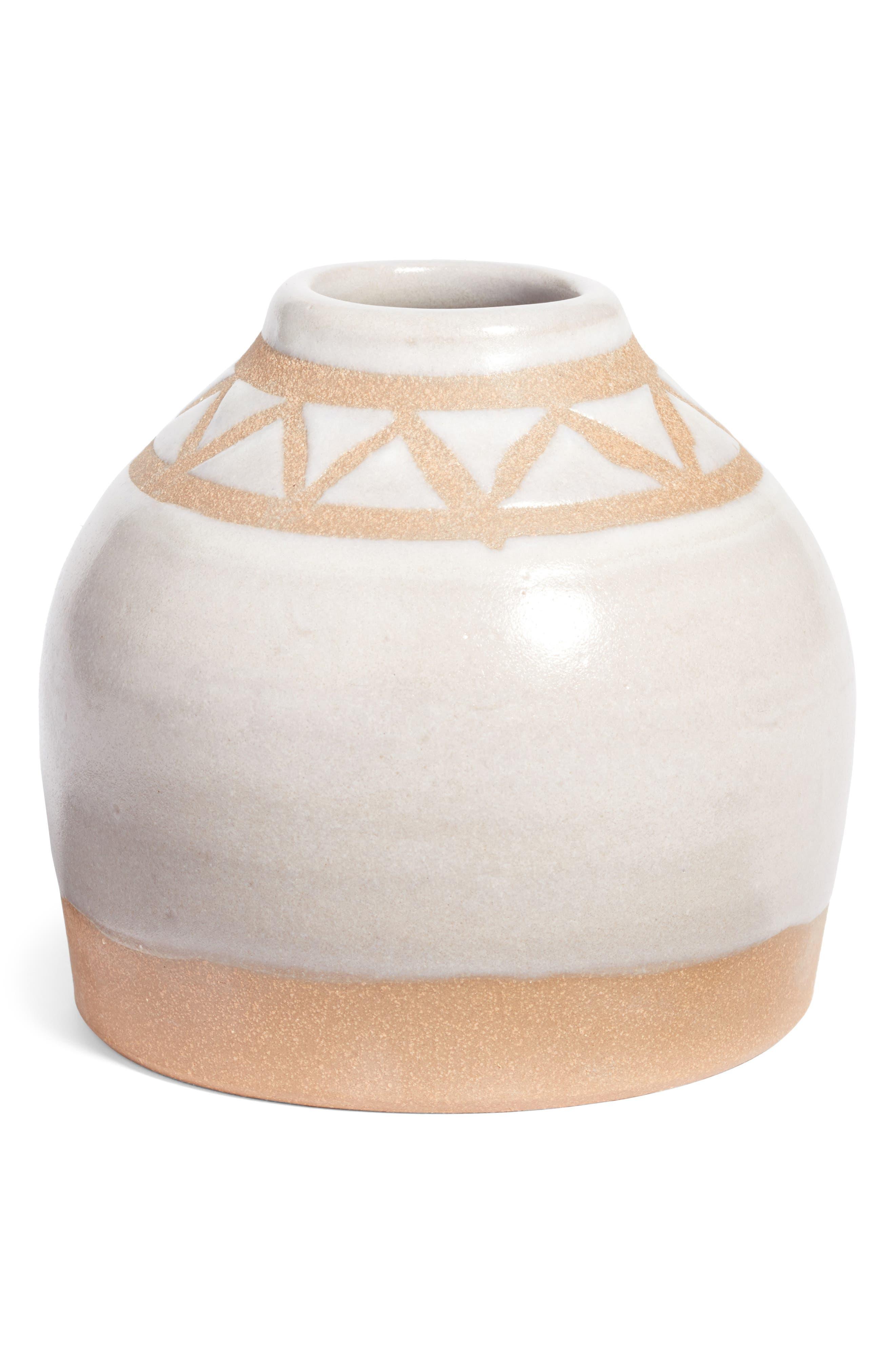 Geo Bud Vase,                             Main thumbnail 1, color,                             Matte White