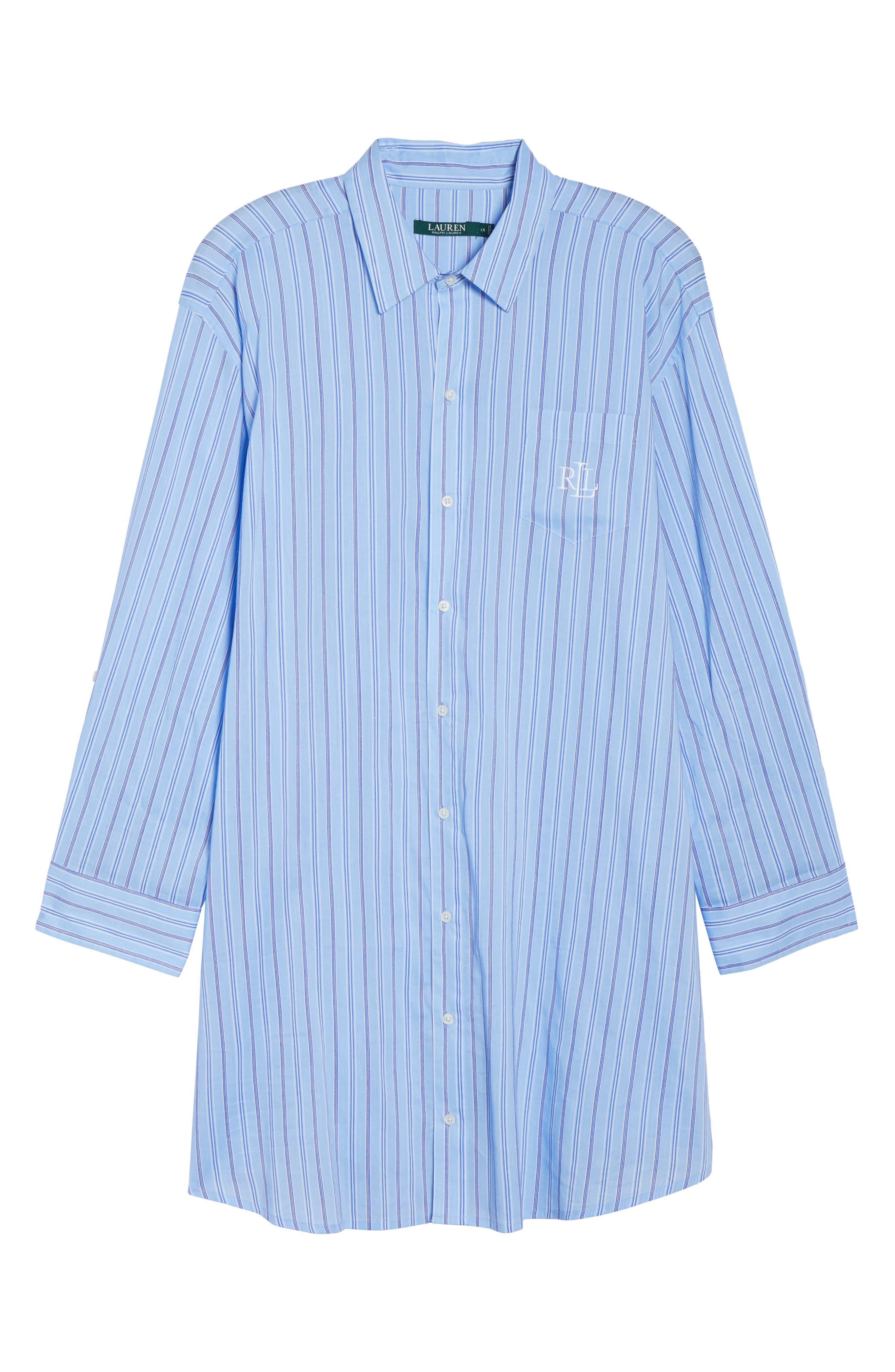 Night Shirt,                             Alternate thumbnail 4, color,                             Blue Stripe