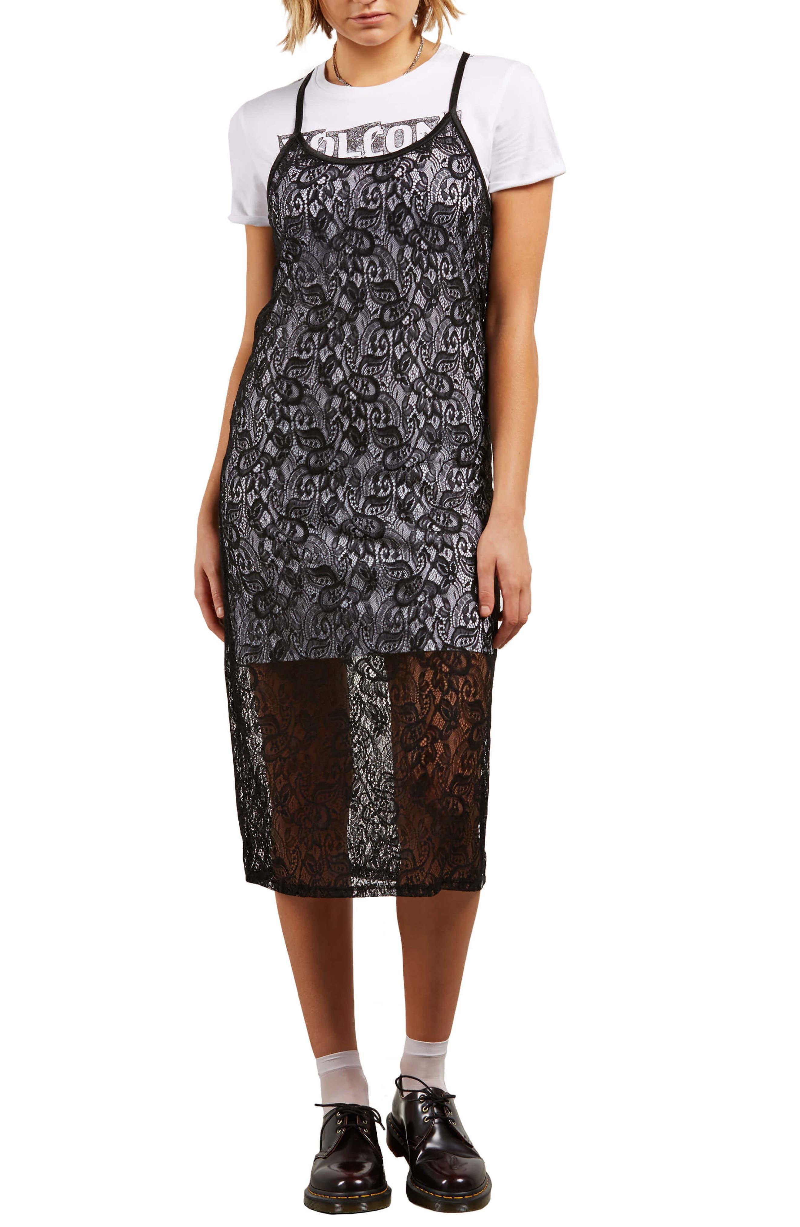 Time's Now Layered Midi Dress,                             Main thumbnail 1, color,                             Black