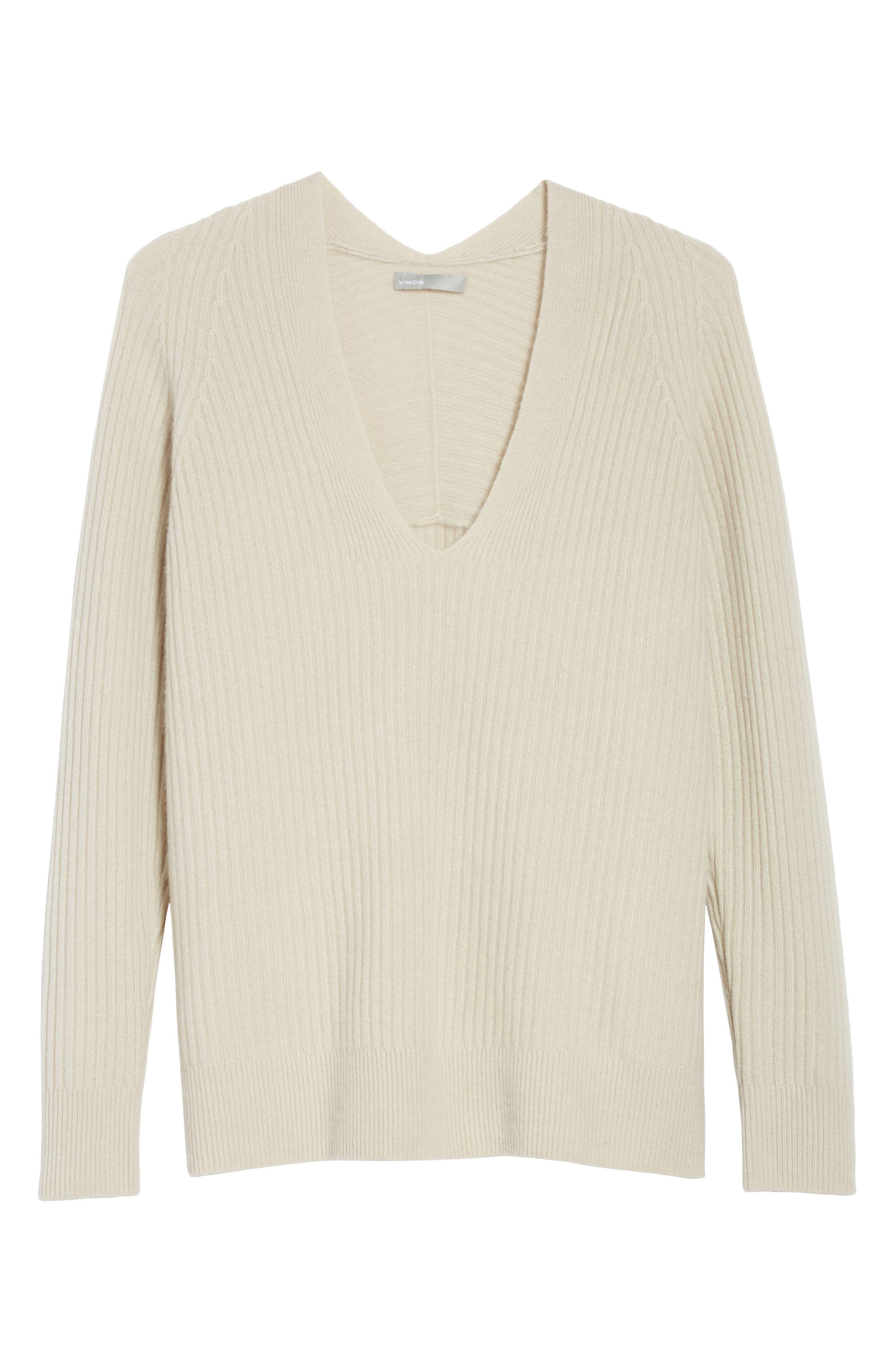 Wool Blend Raglan V-Neck Sweater,                             Alternate thumbnail 6, color,                             Chalet