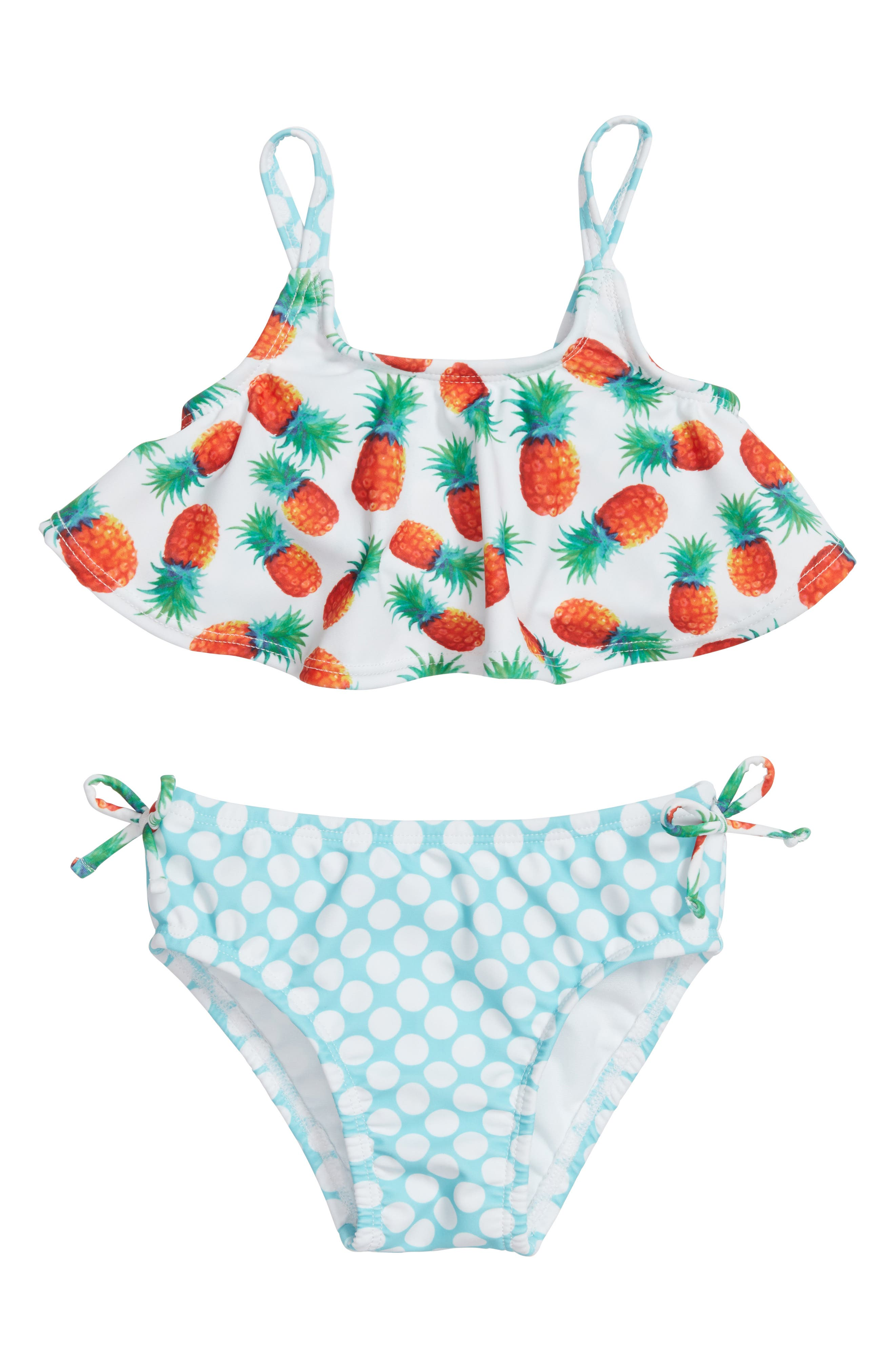 Two-Piece Swimsuit,                             Main thumbnail 1, color,                             White Multi