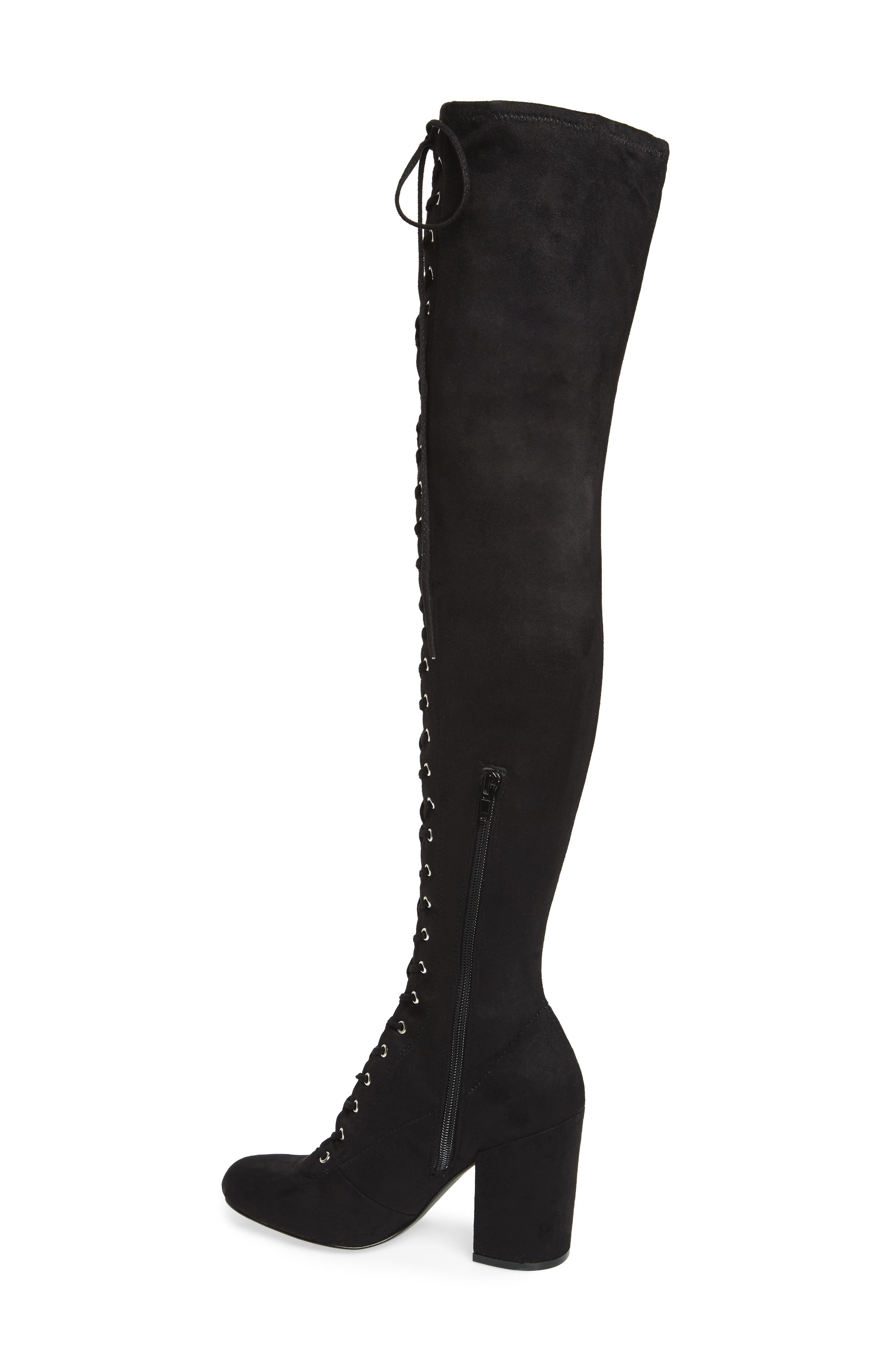 General Over the Knee Boot,                             Alternate thumbnail 2, color,                             Black Suede