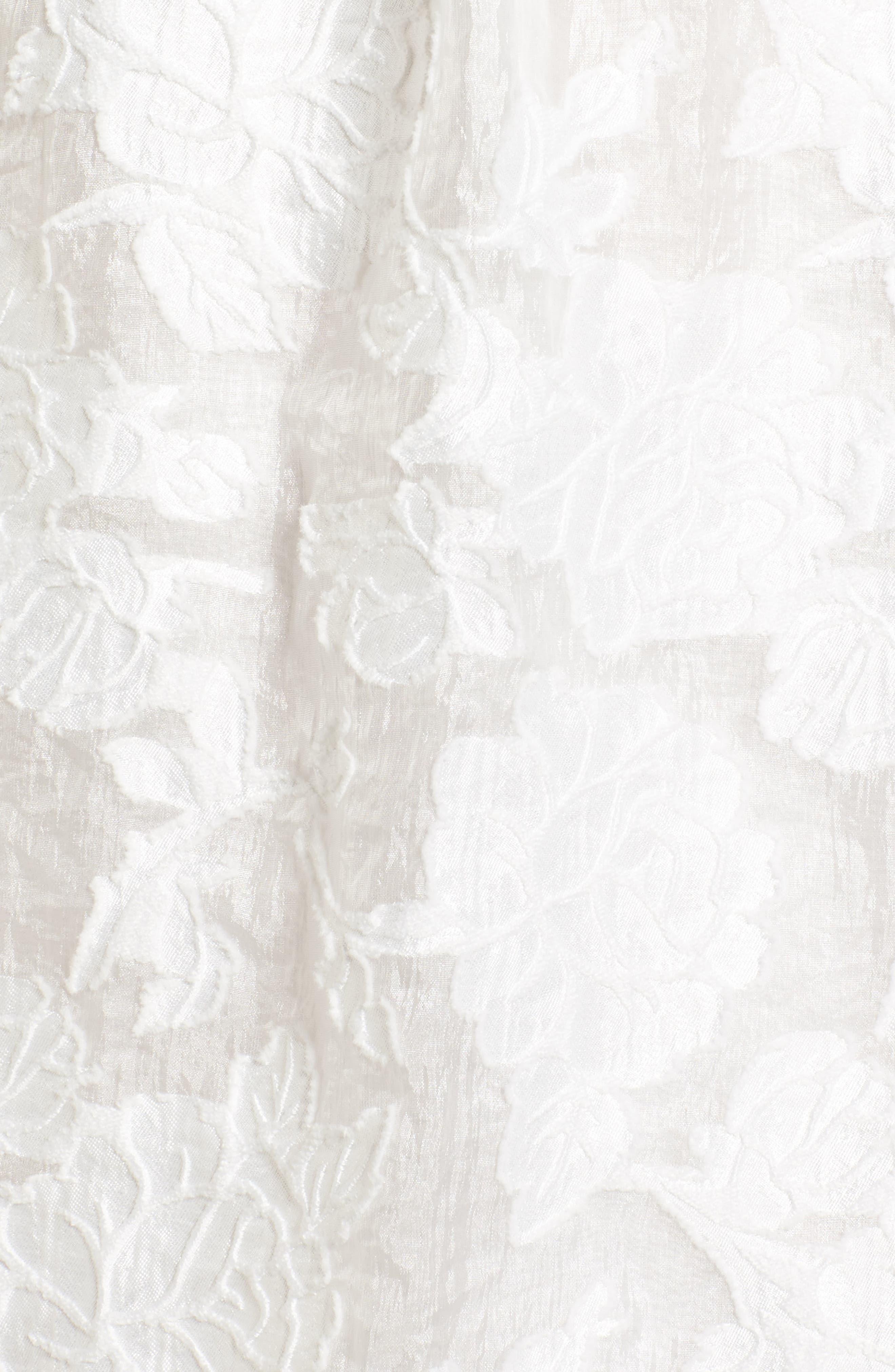 Floral Burnout Dress,                             Alternate thumbnail 6, color,                             White