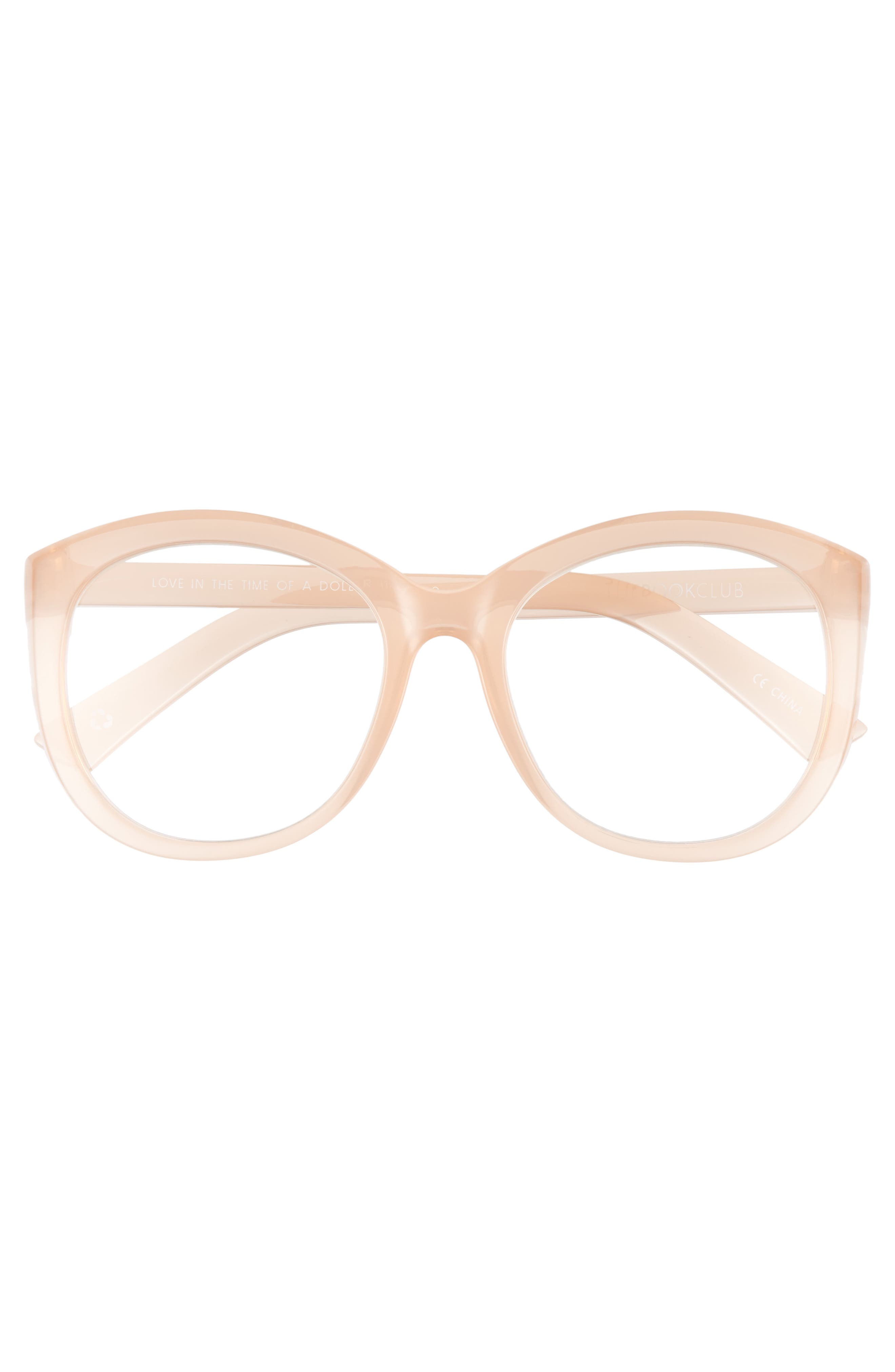 Love In The Time Of A Dollar 55mm Reading Glasses,                             Alternate thumbnail 3, color,                             Tea Rose