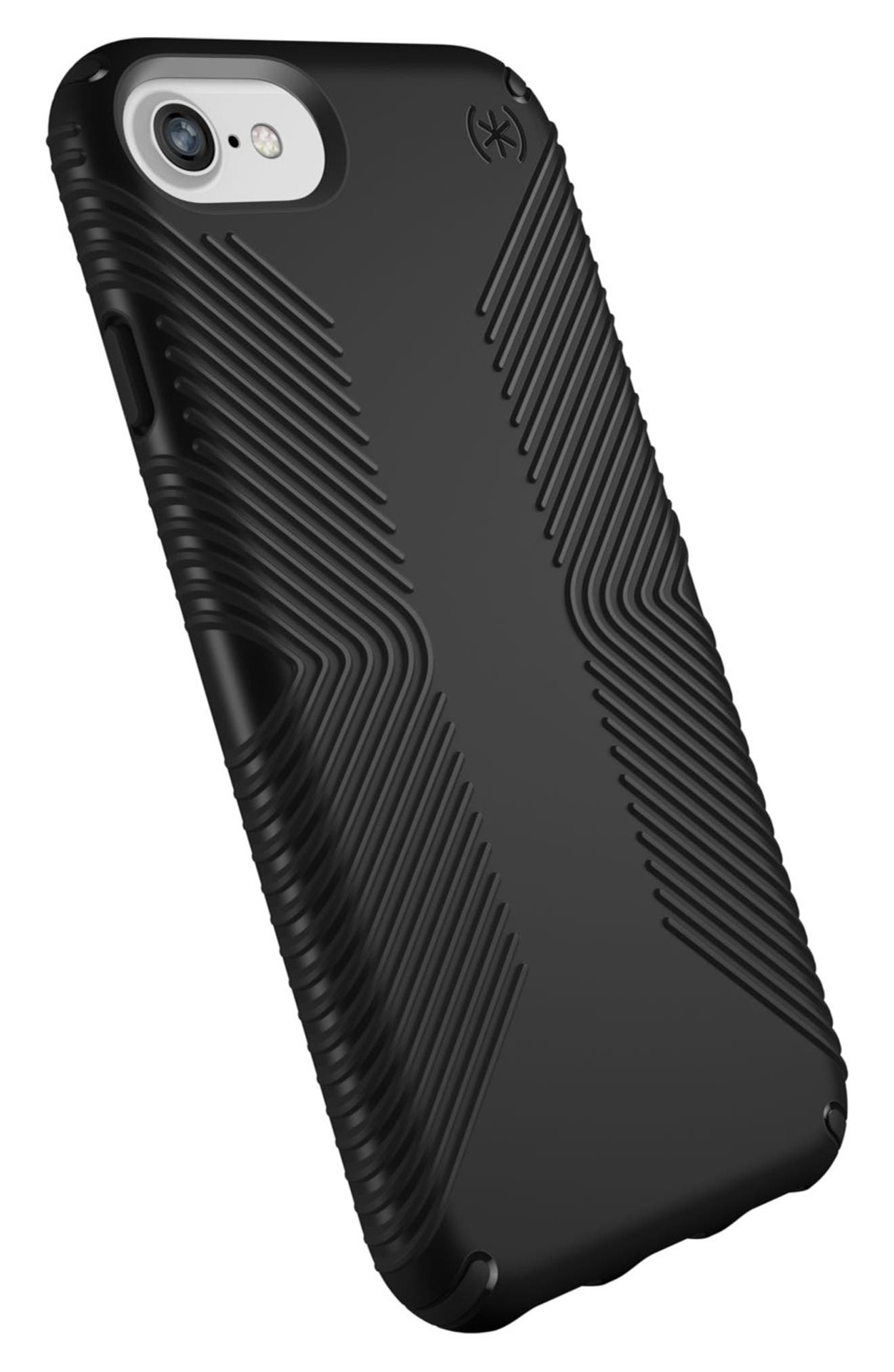 Grip iPhone 6/6s/7/8 Case,                             Alternate thumbnail 4, color,                             Black/ Black