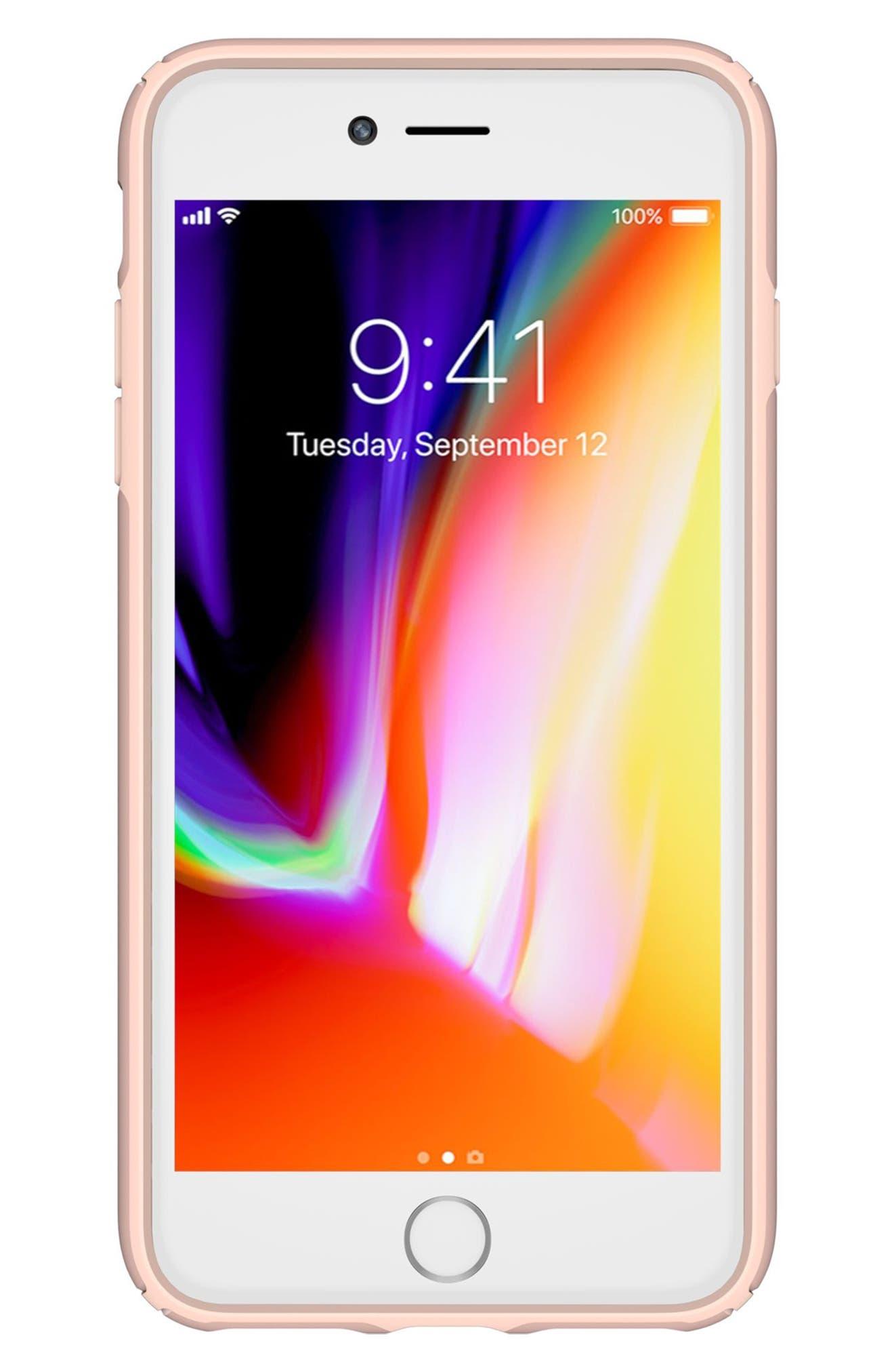 iPhone 6/6s/7/8 Plus Case,                             Alternate thumbnail 2, color,                             Rose Gold Metallic/ Peach