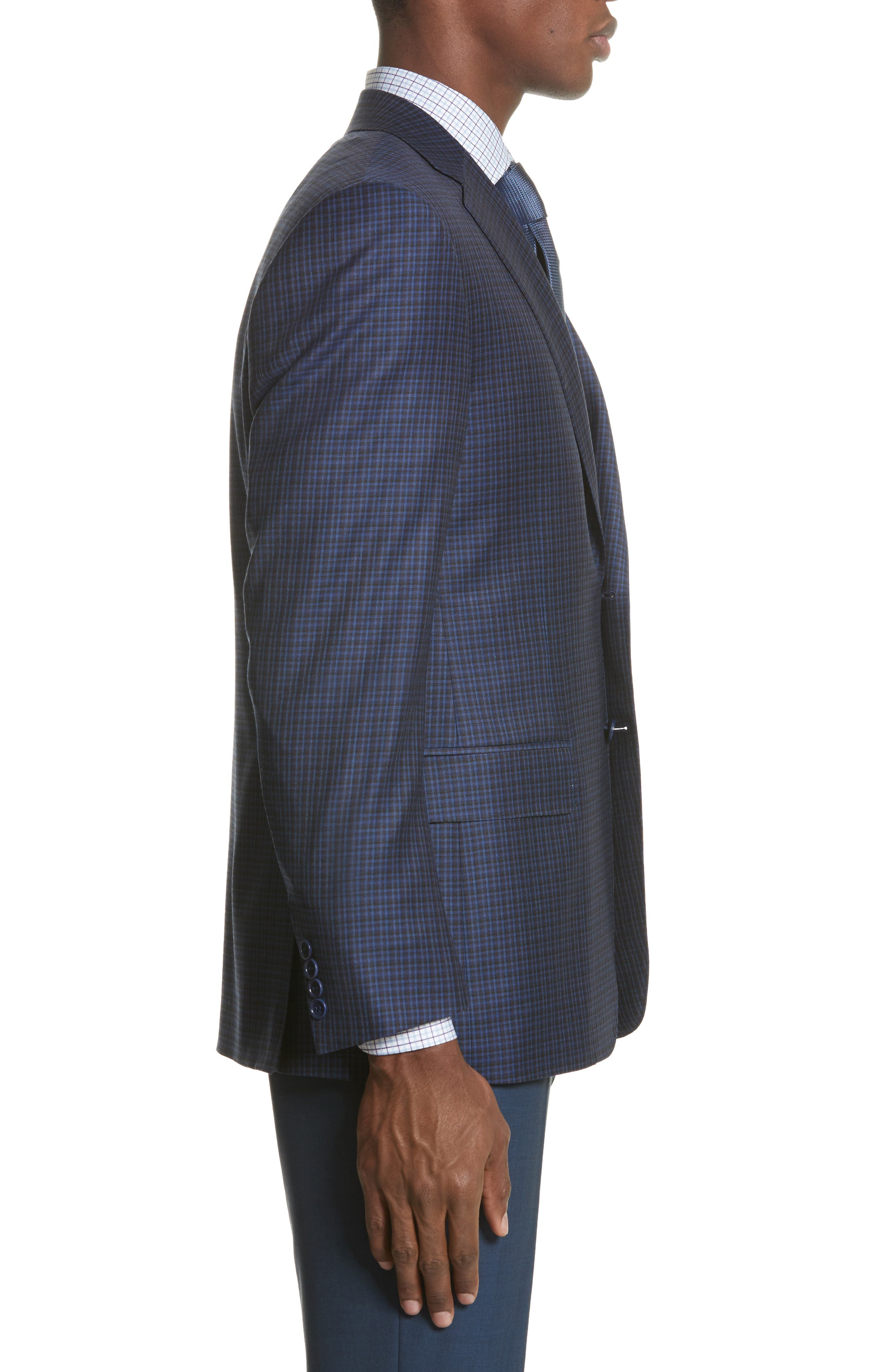 Alternate Image 3  - Canali Classic Fit Check Wool Sport Coat
