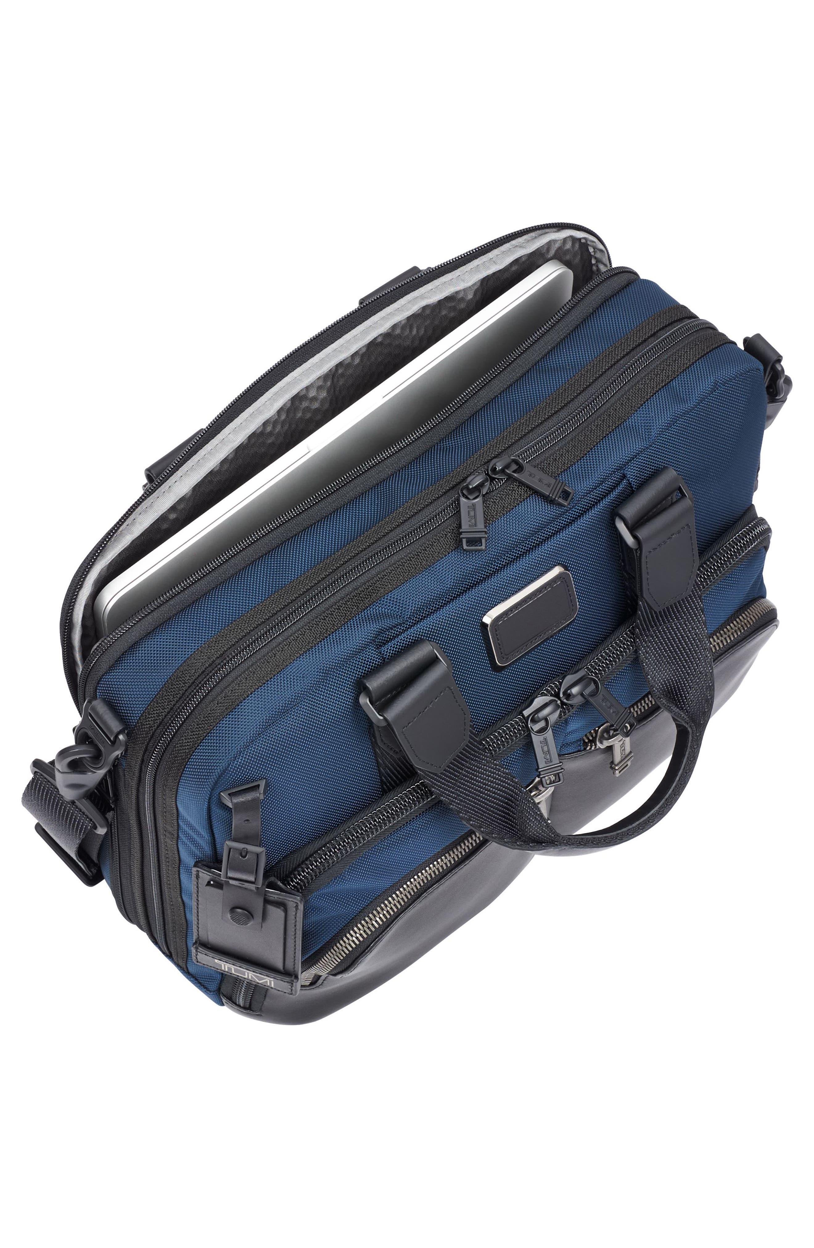Alpha Bravo - Albany Slim Commuter Briefcase,                             Alternate thumbnail 6, color,                             Navy