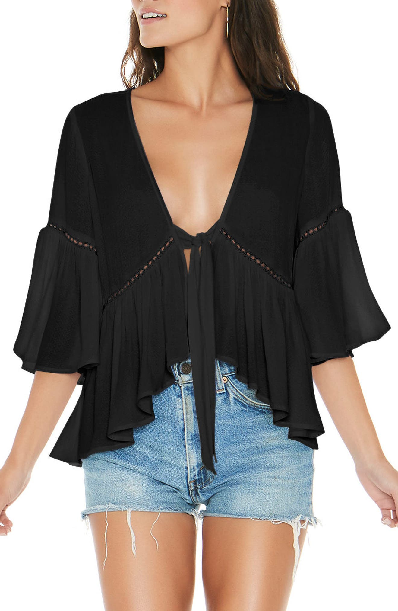 L Space Lilly Tie Front Top