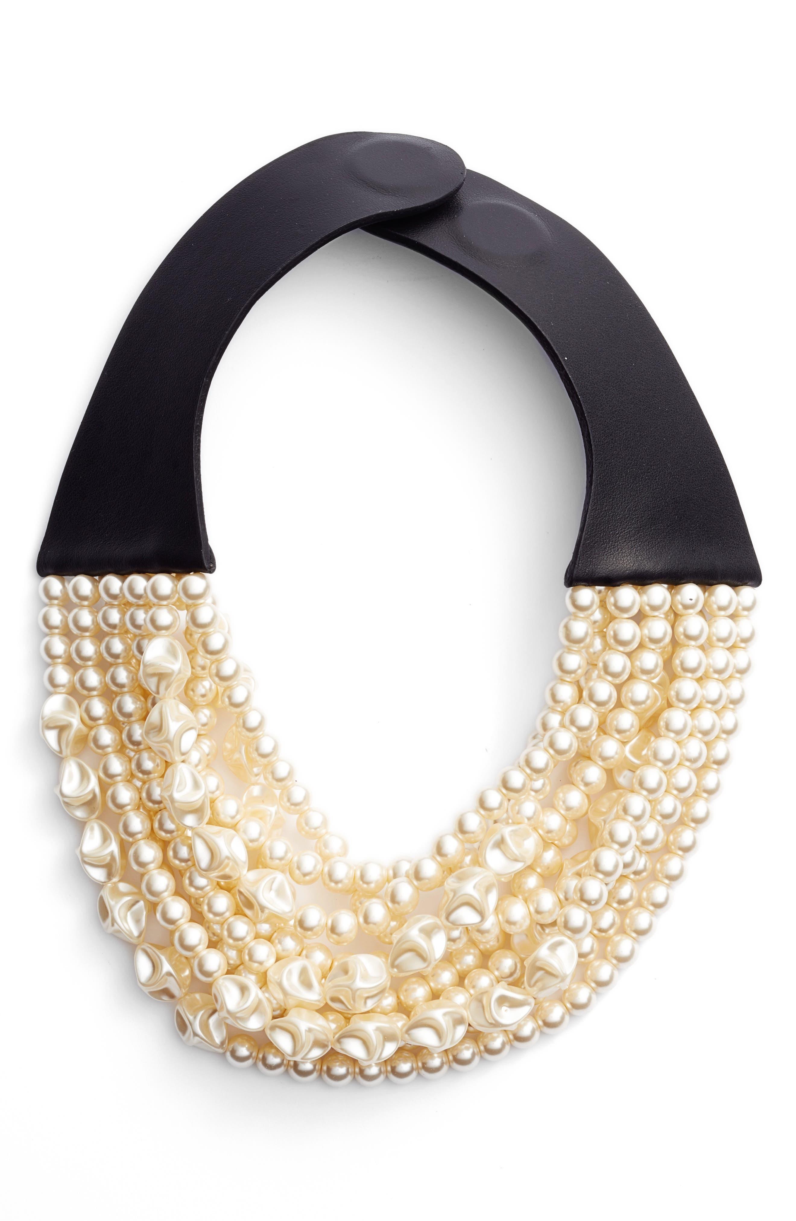Alternate Image 1 Selected - Fairchild Baldwin Beaded Collar Necklace