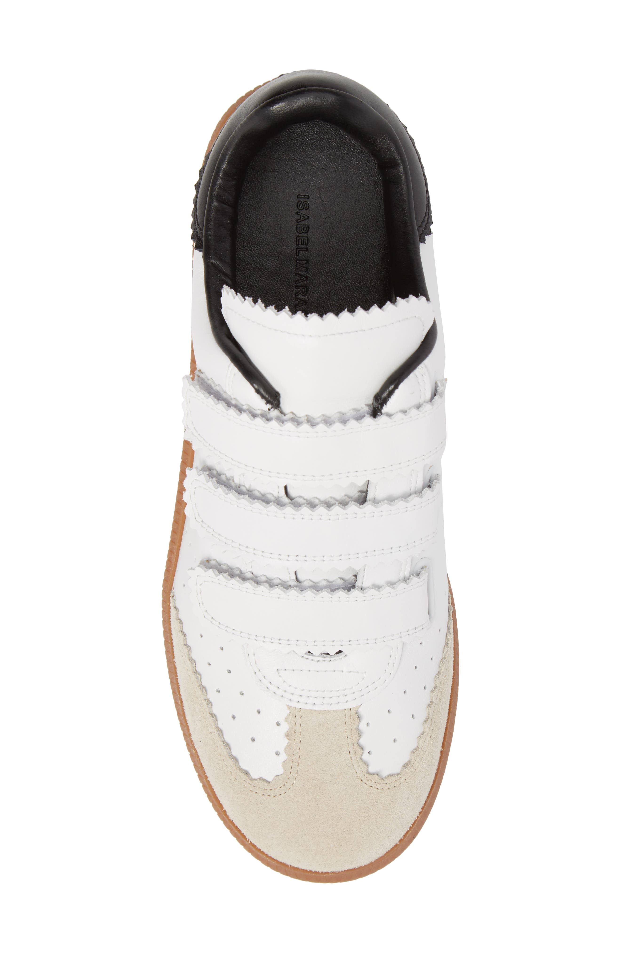 Isabel Marant Beth Low Top Sneaker,                             Alternate thumbnail 5, color,                             White
