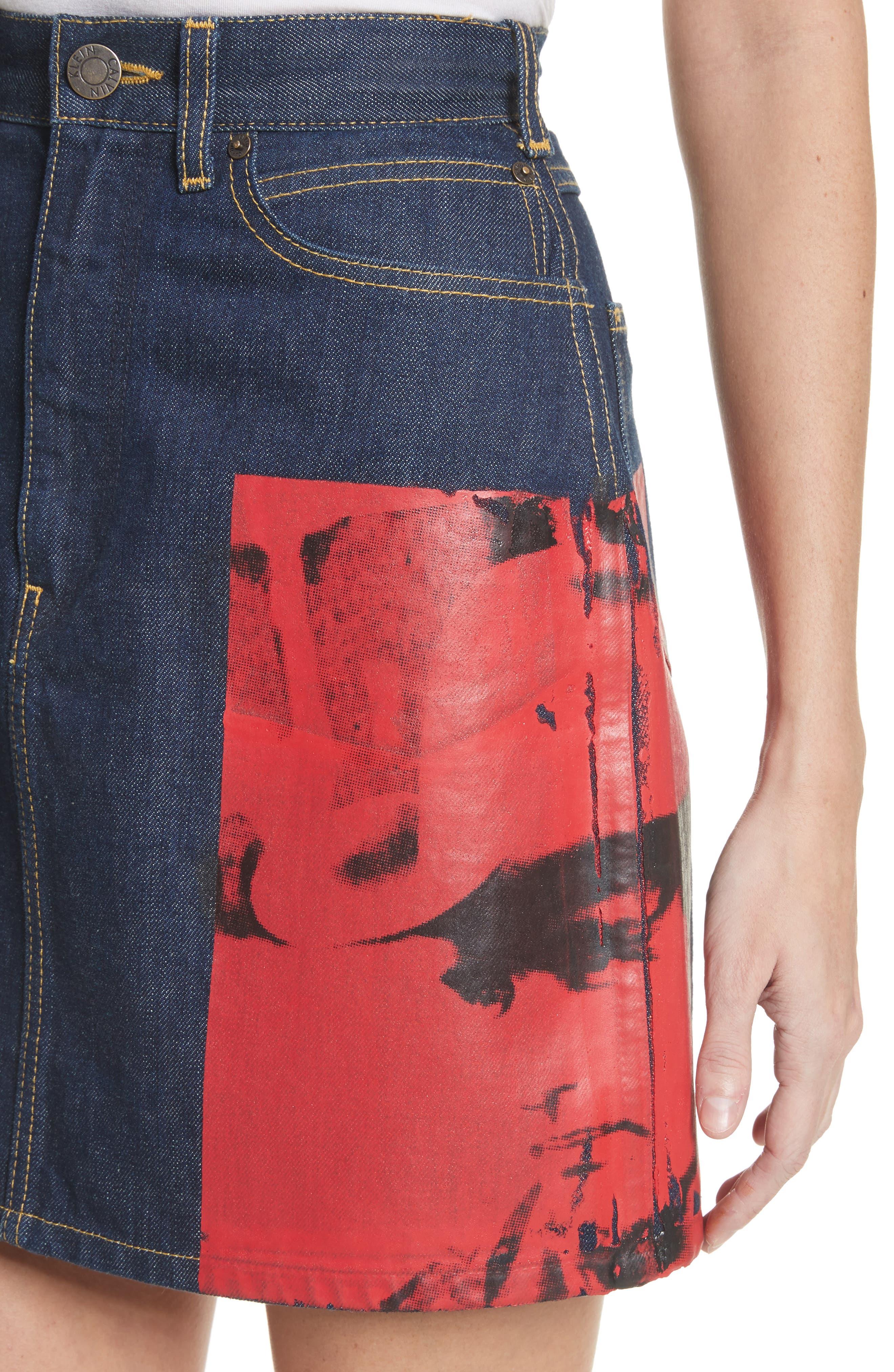Alternate Image 5  - CALVIN KLEIN 205W39NYC x Andy Warhol Foundation Dennis Hopper Denim Skirt