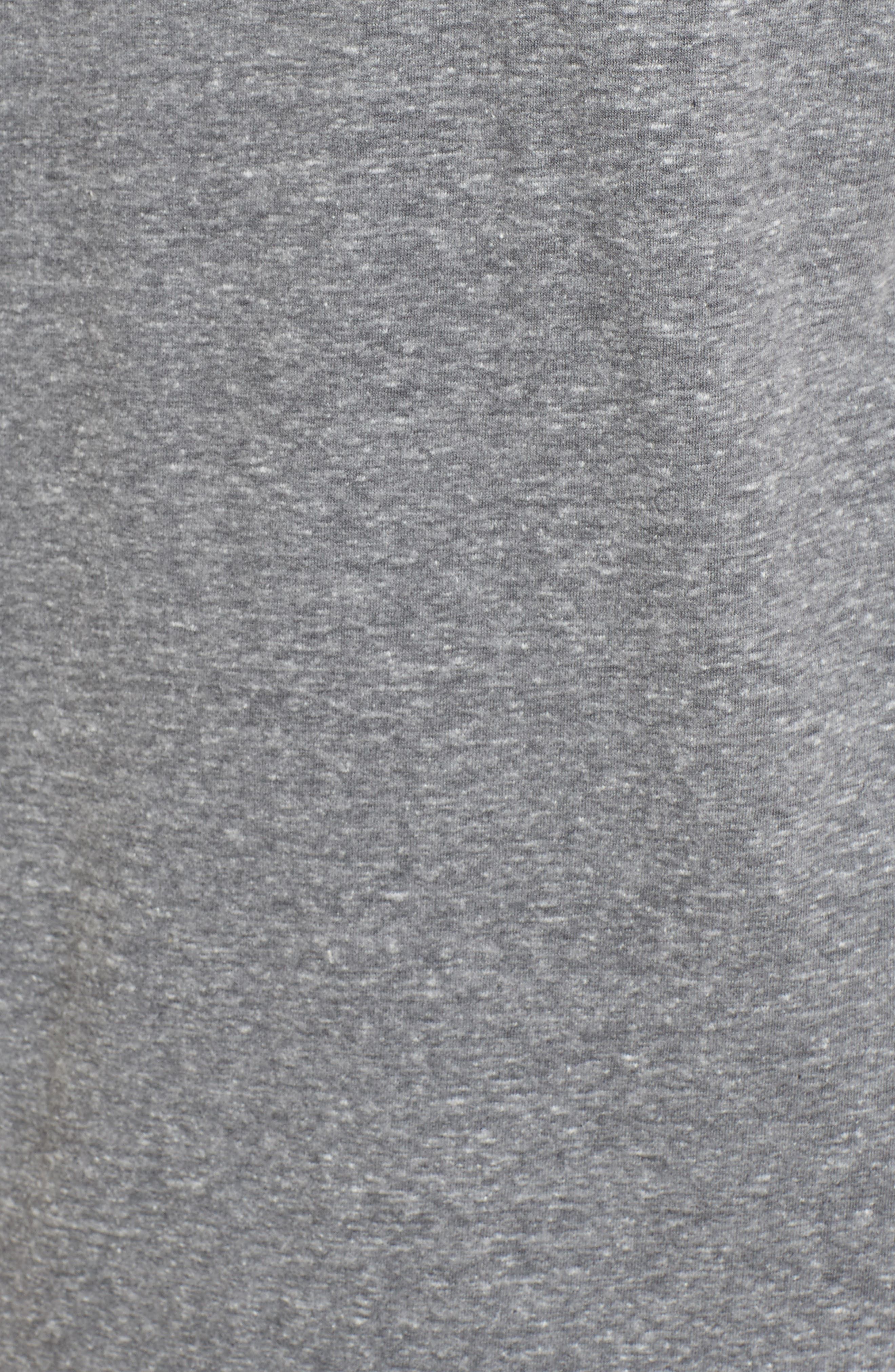 Benjamin Crewneck T-Shirt,                             Alternate thumbnail 5, color,                             Grey Heather