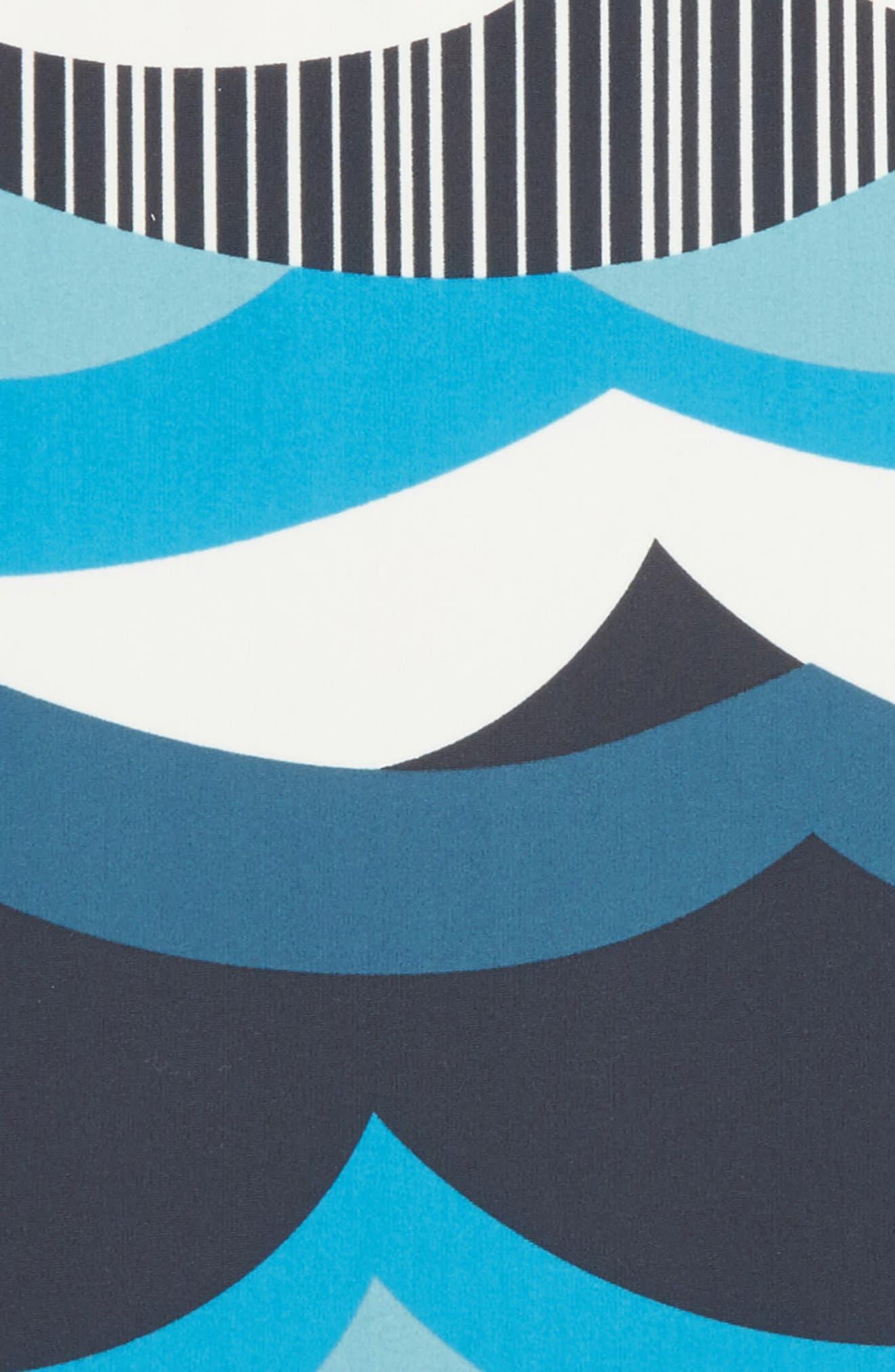Make Waves One-Piece Swimsuit,                             Alternate thumbnail 2, color,                             Indigo