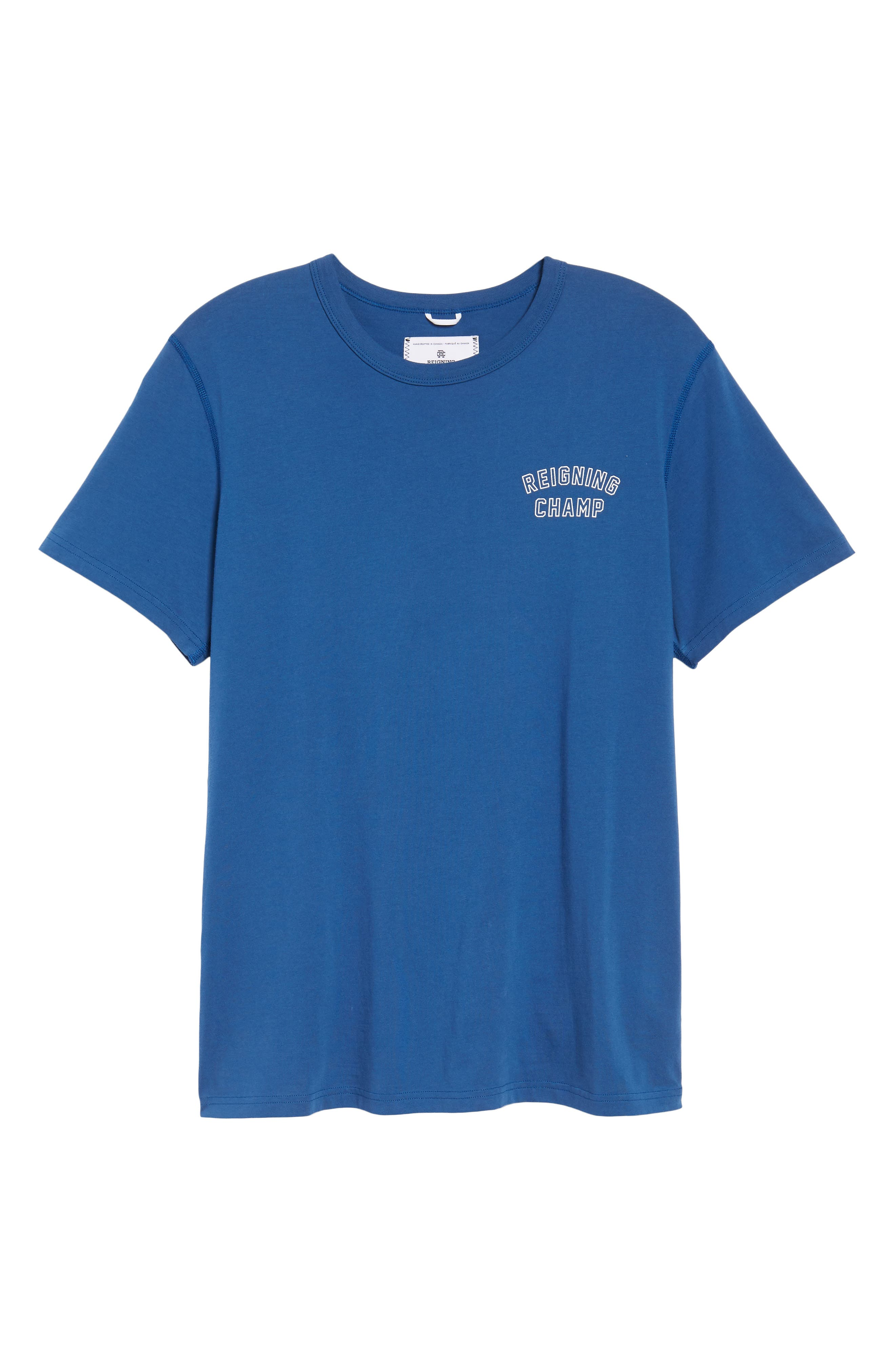 Varsity Logo T-Shirt,                             Alternate thumbnail 6, color,                             Court Blue/ White