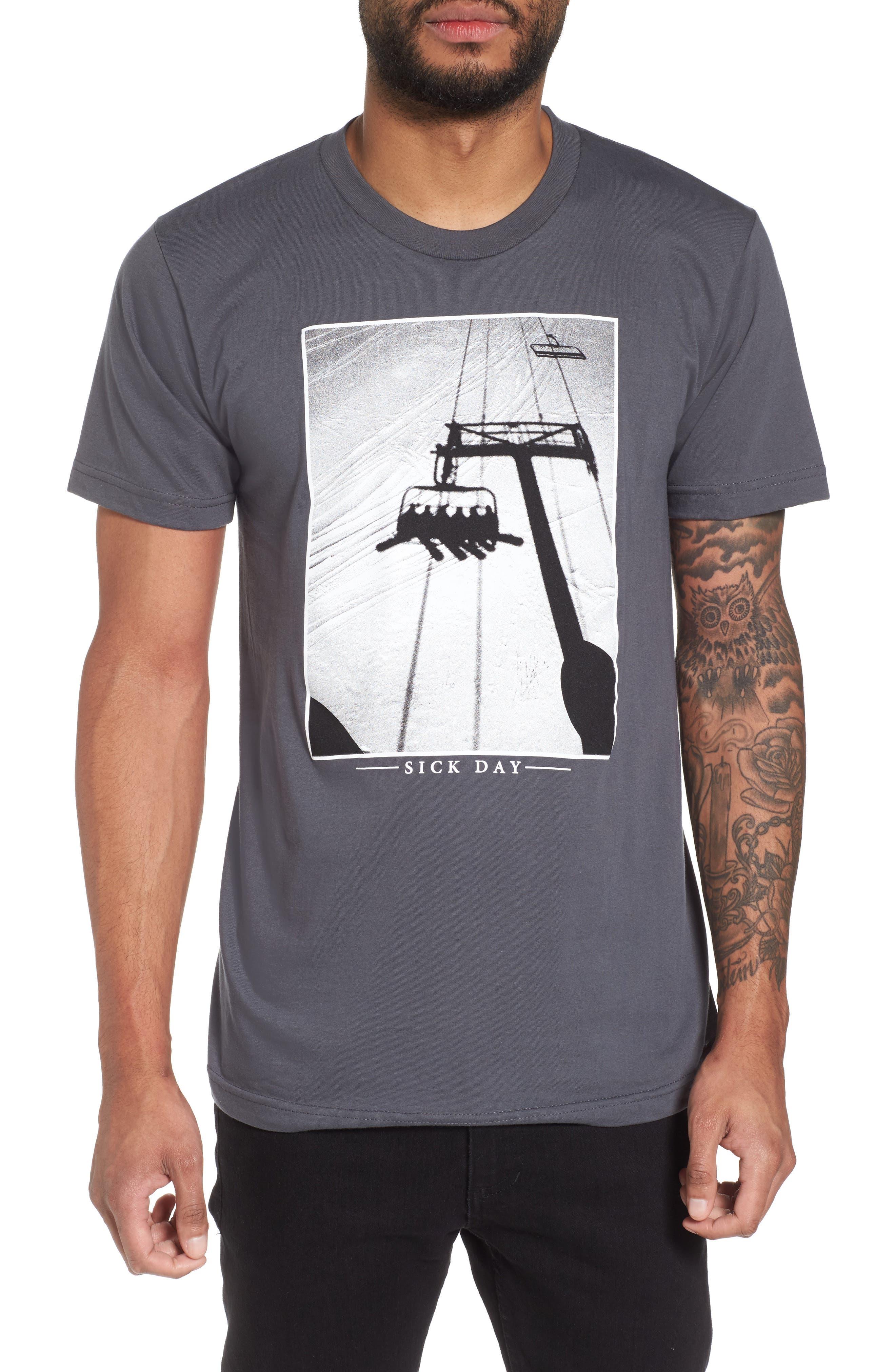 Sick Day T-Shirt,                         Main,                         color, Asphalt