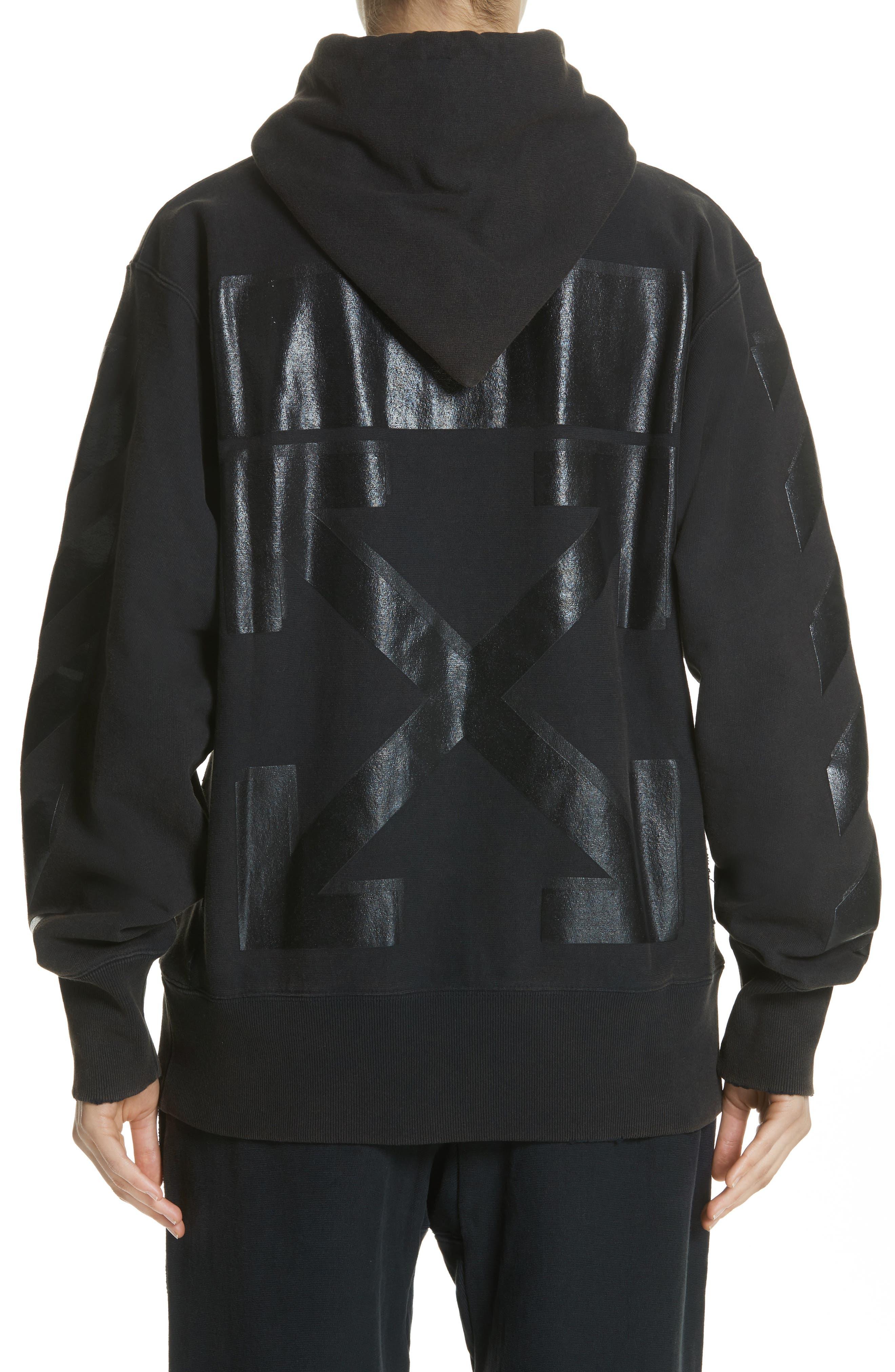 x Champion Pullover Hoodie,                             Alternate thumbnail 2, color,                             Black/ Black
