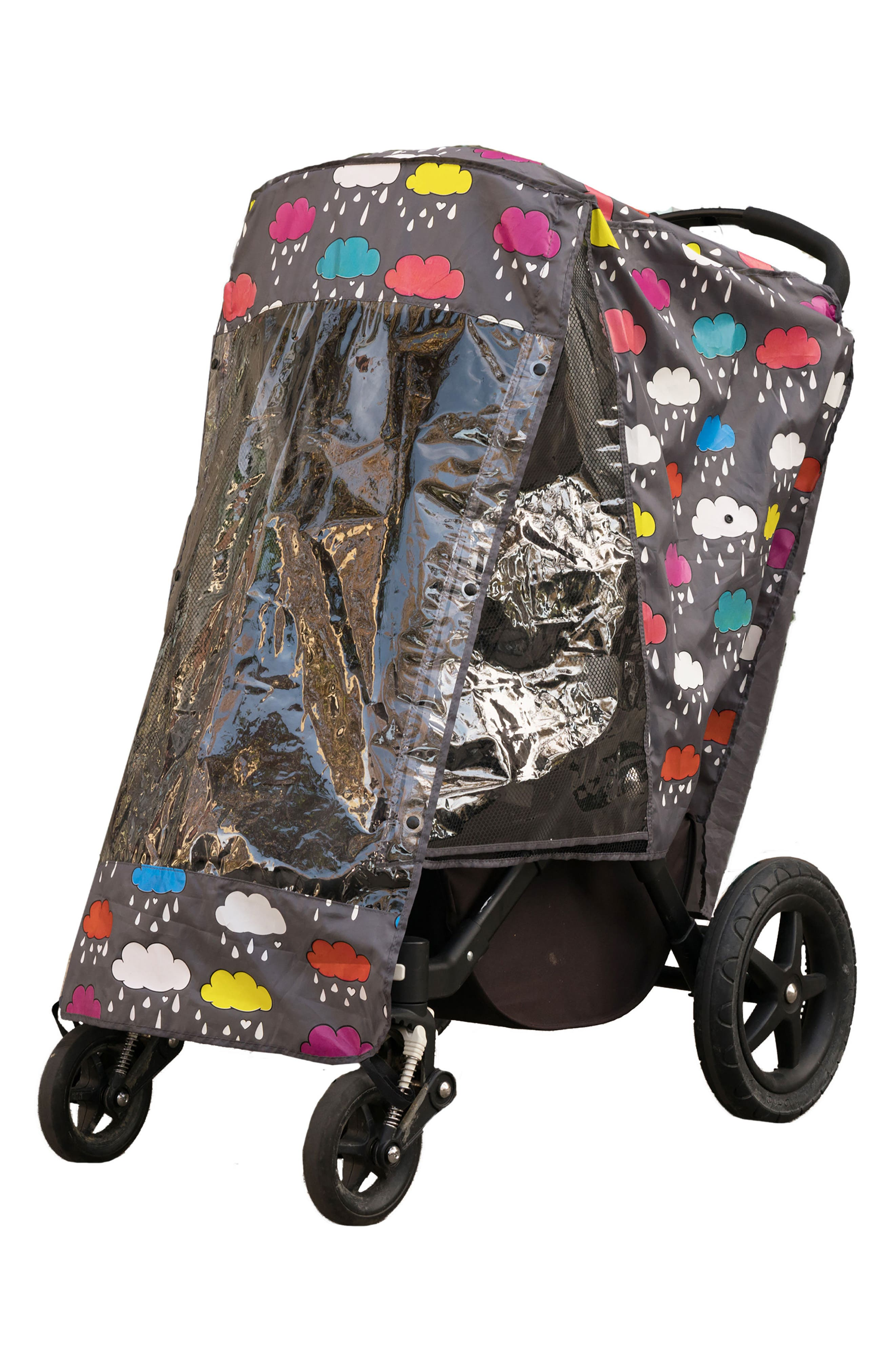 Stroller Rain Cover,                         Main,                         color, Clouds