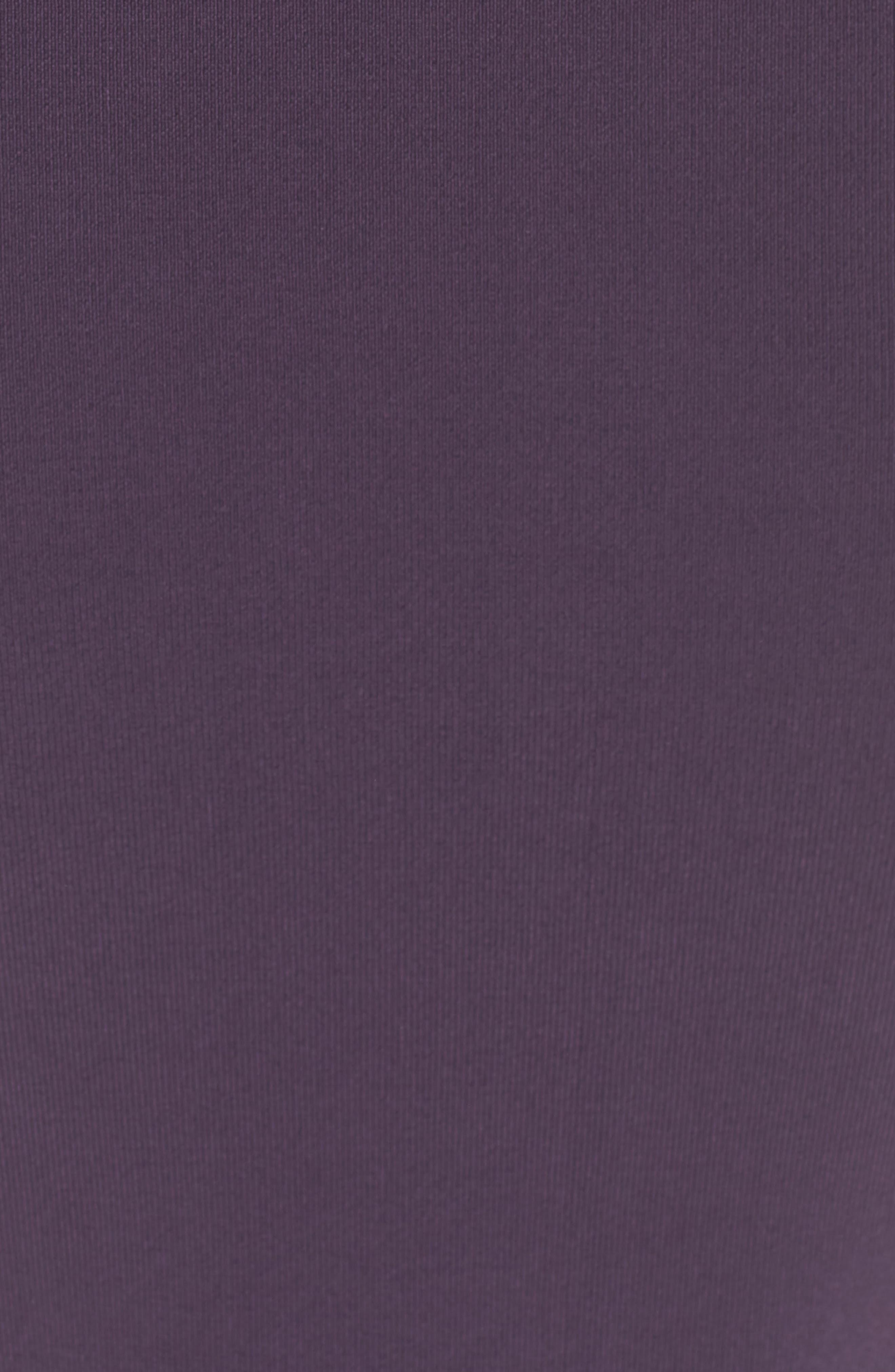 Sweater Knit Midi Dress,                             Alternate thumbnail 5, color,                             Purple Night