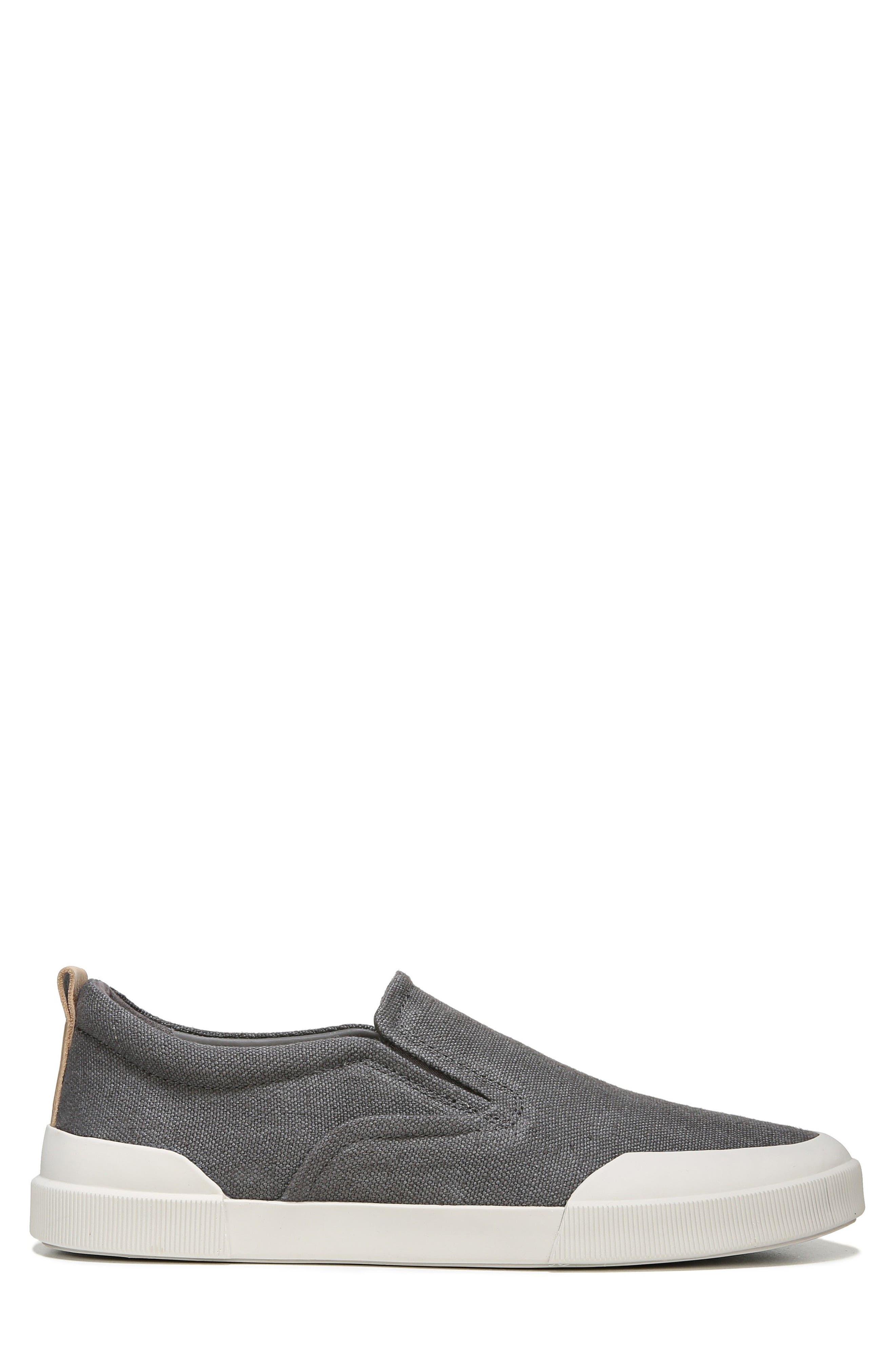 Vernon Slip-On Sneaker,                             Alternate thumbnail 3, color,                             Graphite/ Cuoio