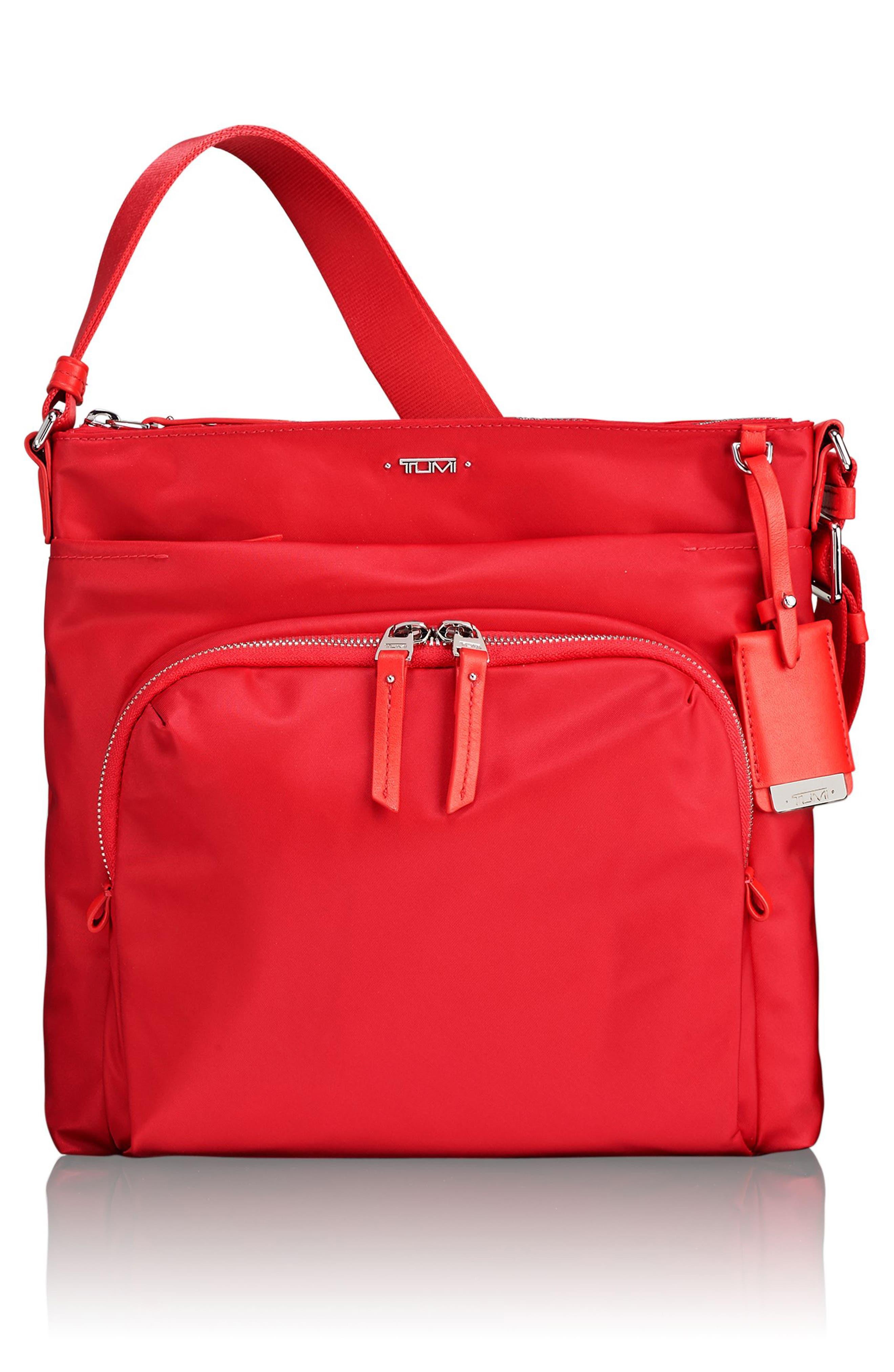 Voyageur - Capri Nylon Crossbody Bag,                             Main thumbnail 1, color,                             Hot Pink