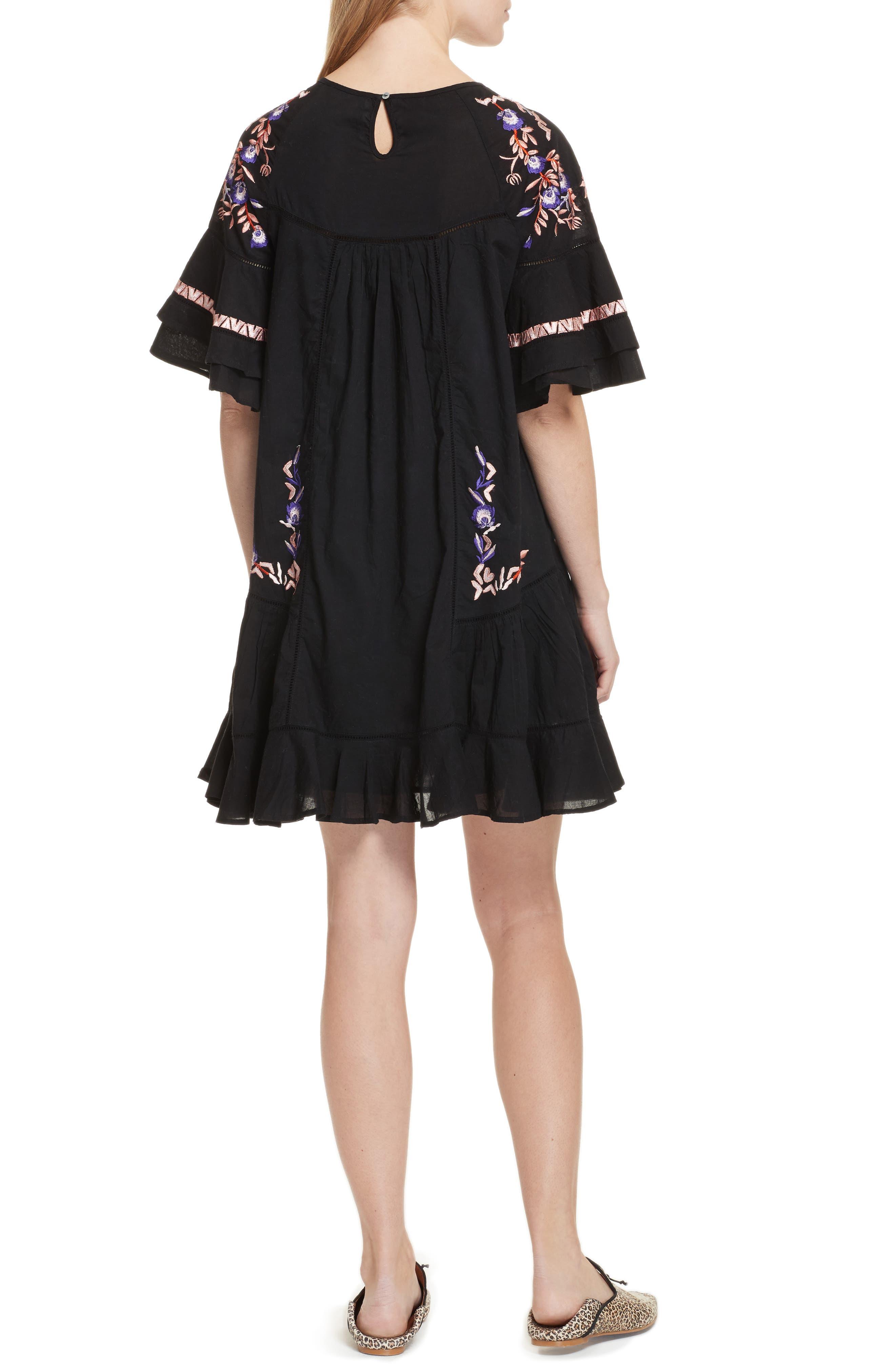 Pavlo Babydoll Dress,                             Alternate thumbnail 2, color,                             Black