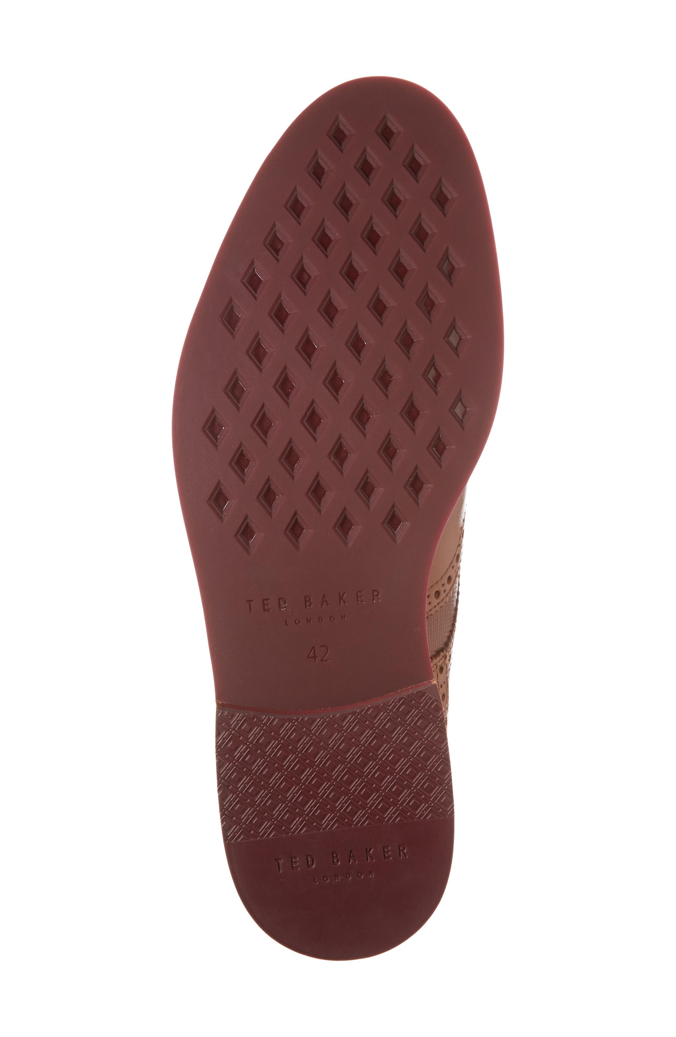 Hjenno Wingtip Boot,                             Alternate thumbnail 6, color,                             Tan Leather