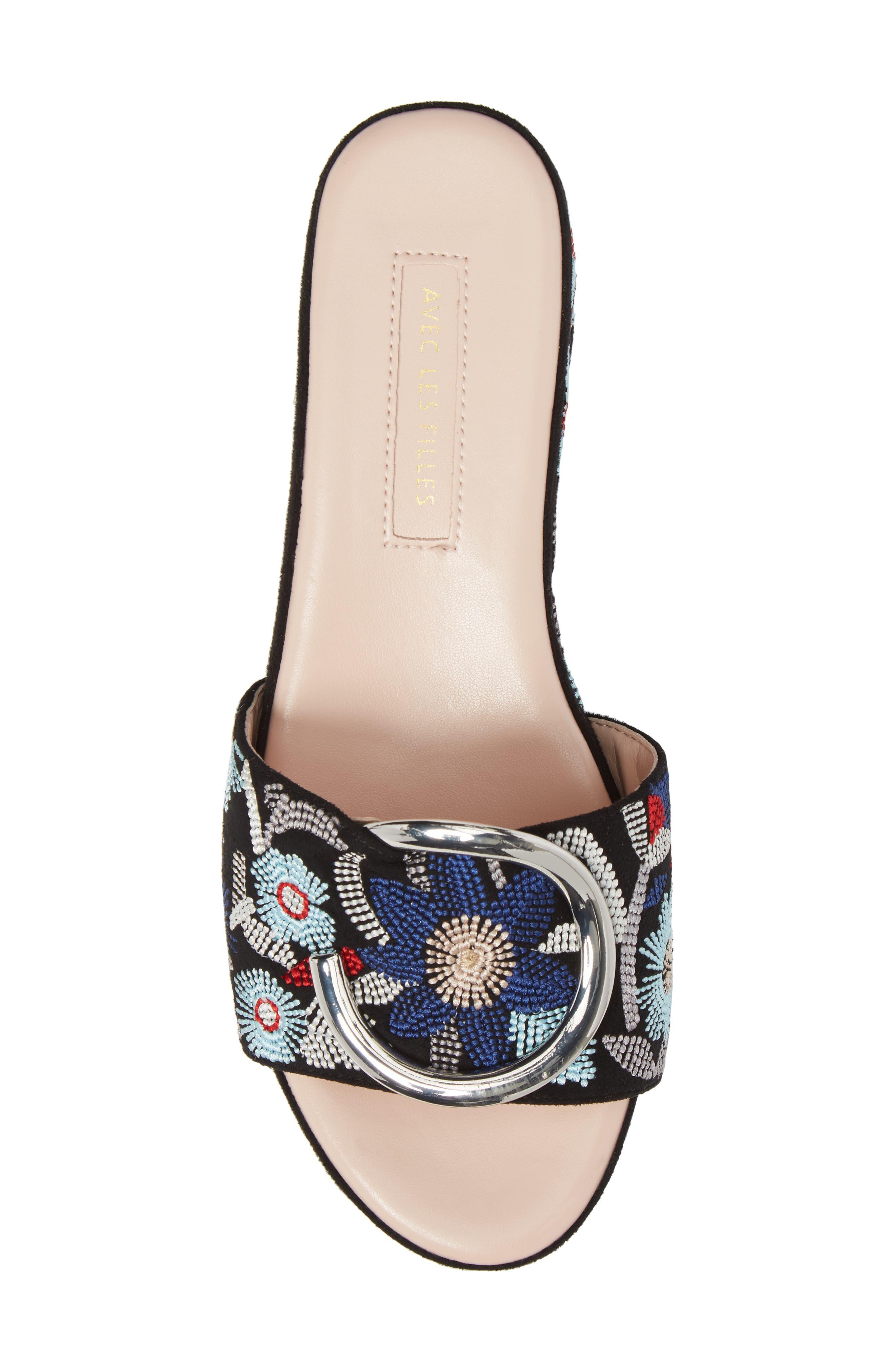 Alternate Image 5  - Avec Les Filles Addison Platform Slide Sandal (Women)