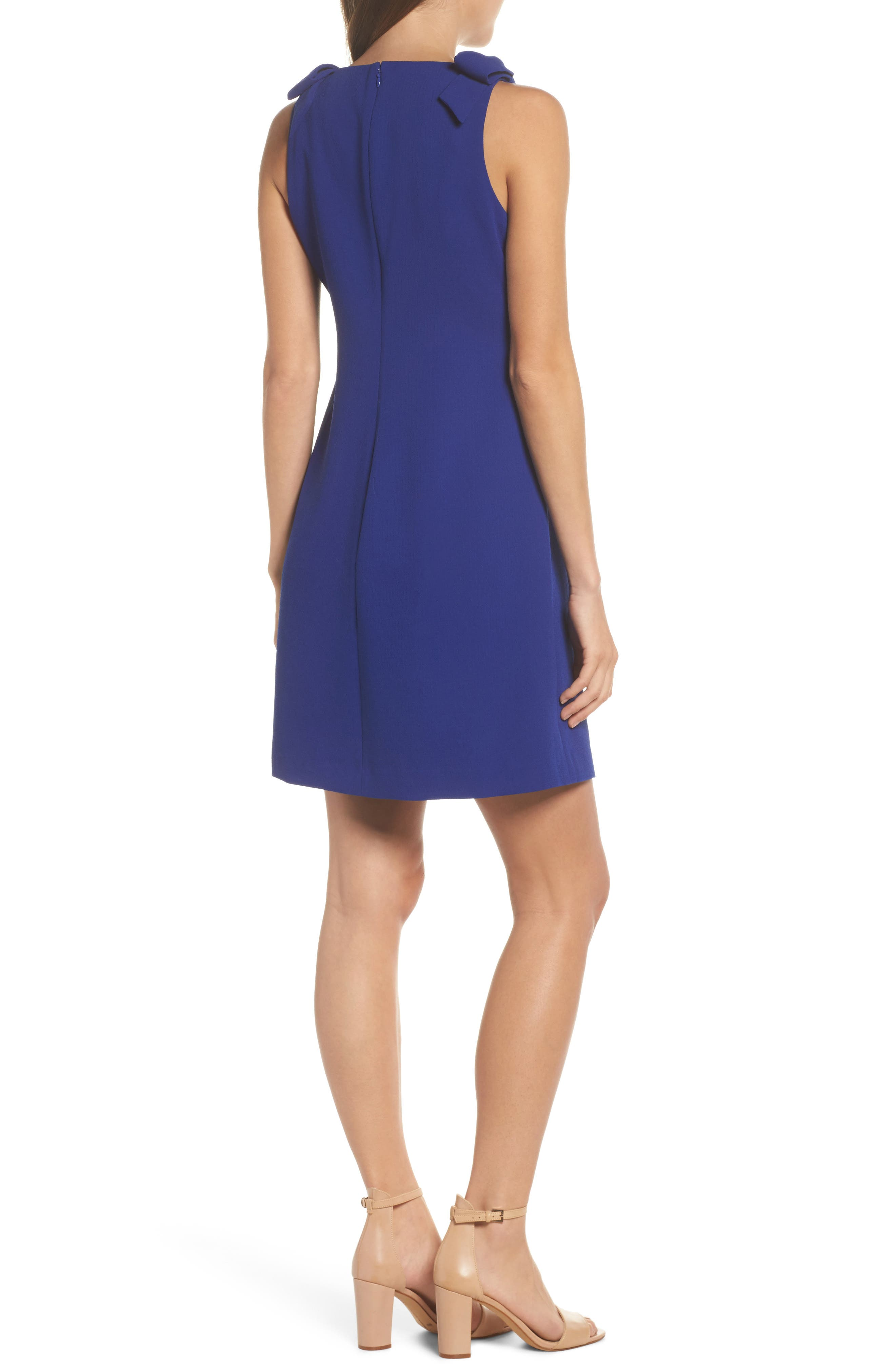 Bow Sheath Dress,                             Alternate thumbnail 2, color,                             Cobalt