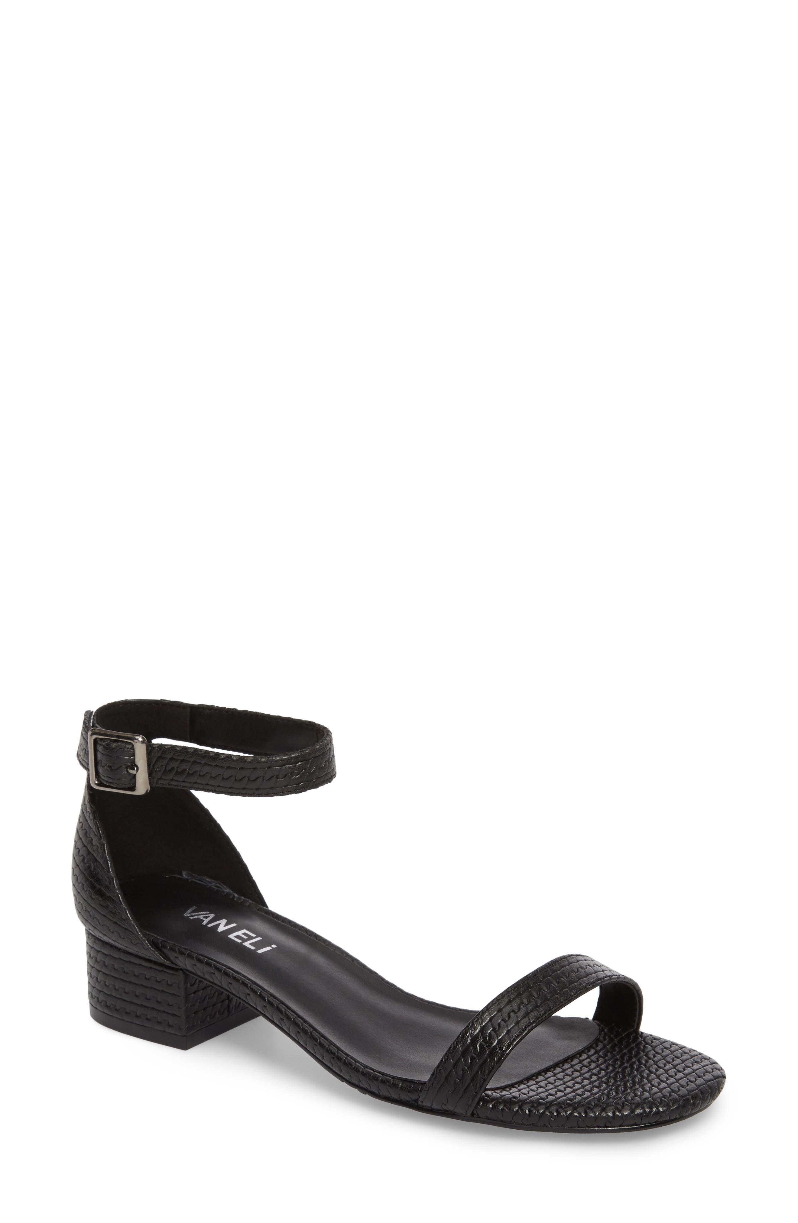 Hirin Sandal,                         Main,                         color, Black Printed Leather