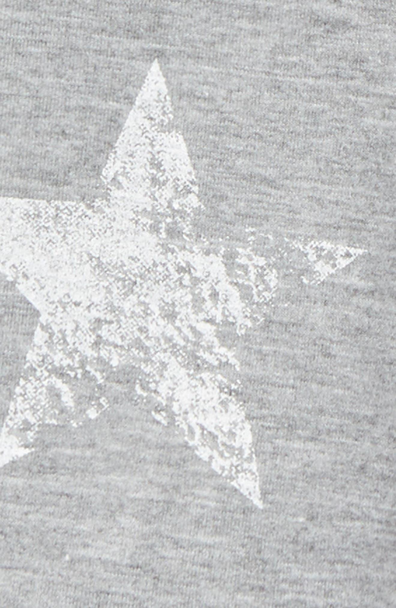Star Print Knit Shorts,                             Alternate thumbnail 2, color,                             Grey Mgrwst Stars Mgrwst