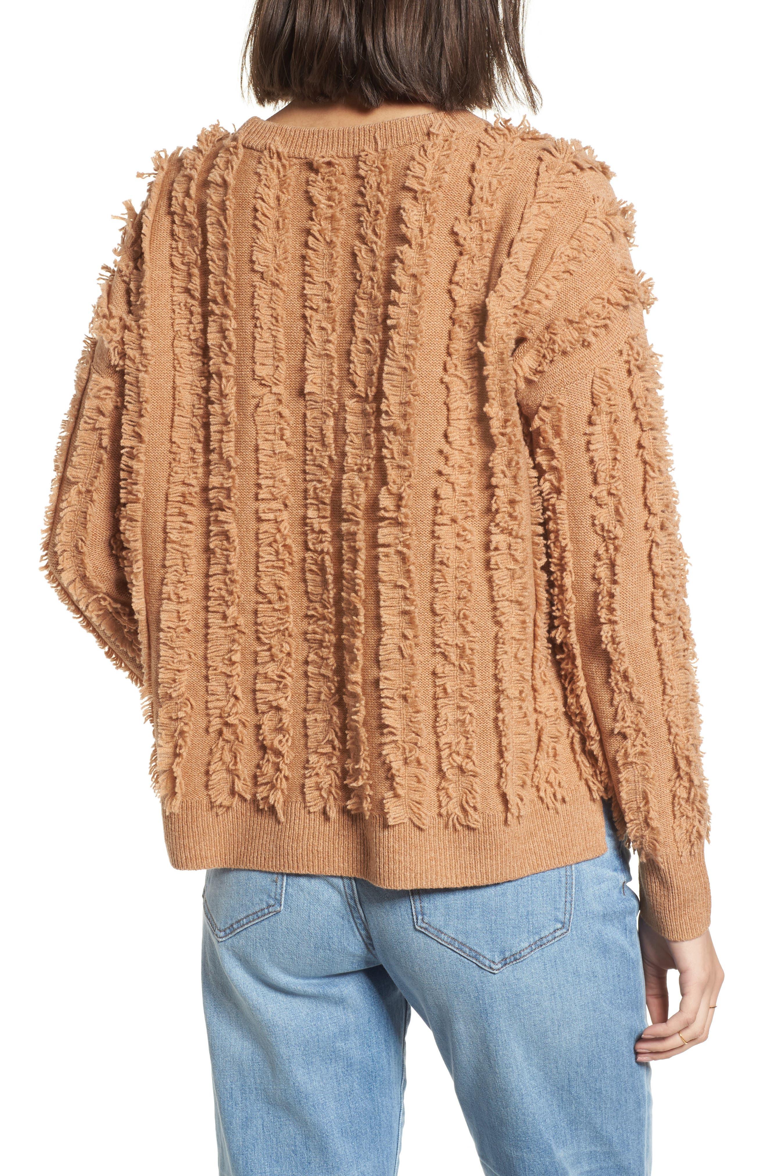 Alternate Image 2  - Madewell Fringe Stripe Pullover Sweater