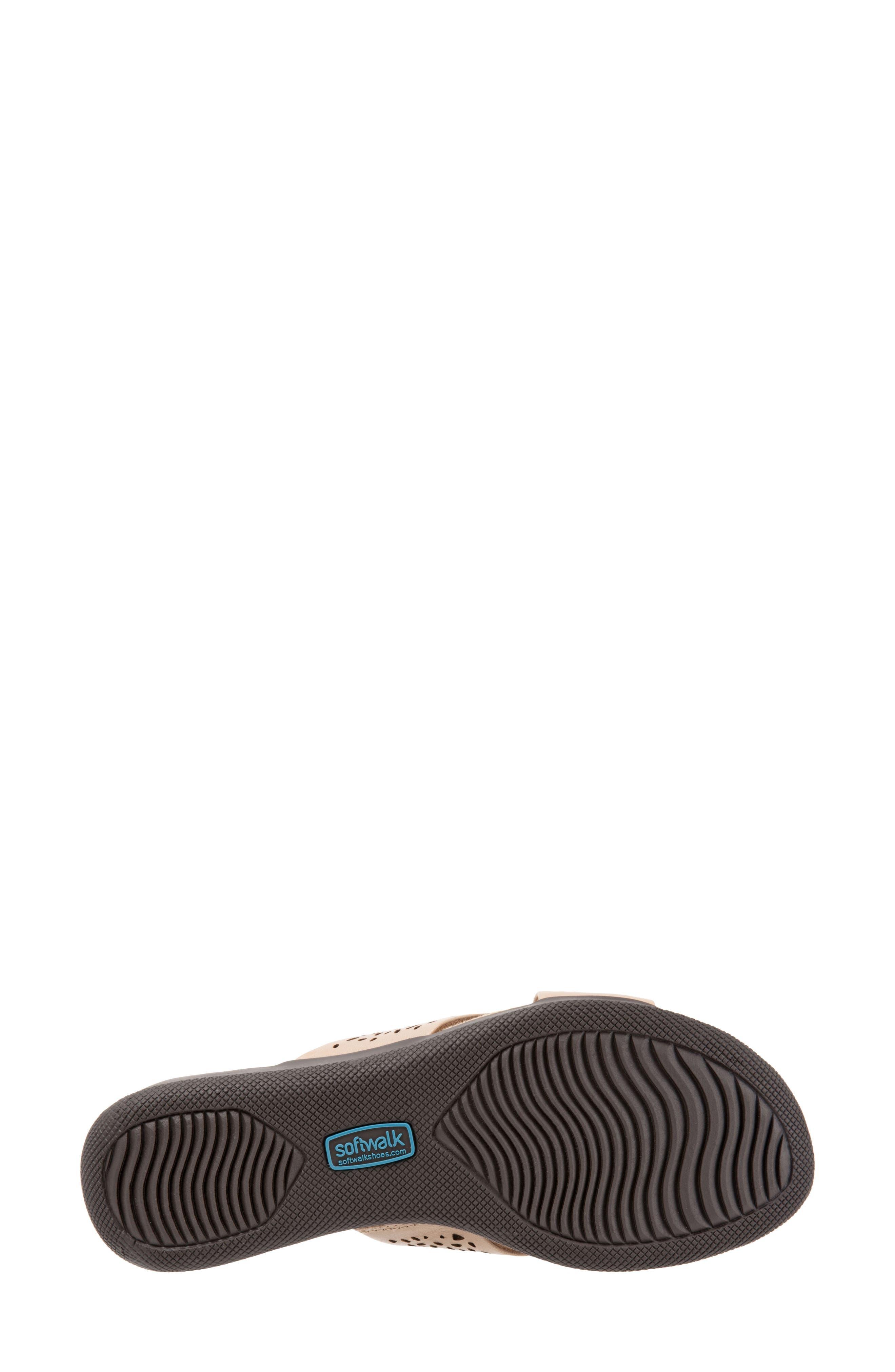 'Tillman' Leather Cross Strap Slide Sandal,                             Alternate thumbnail 6, color,                             Cement Leather