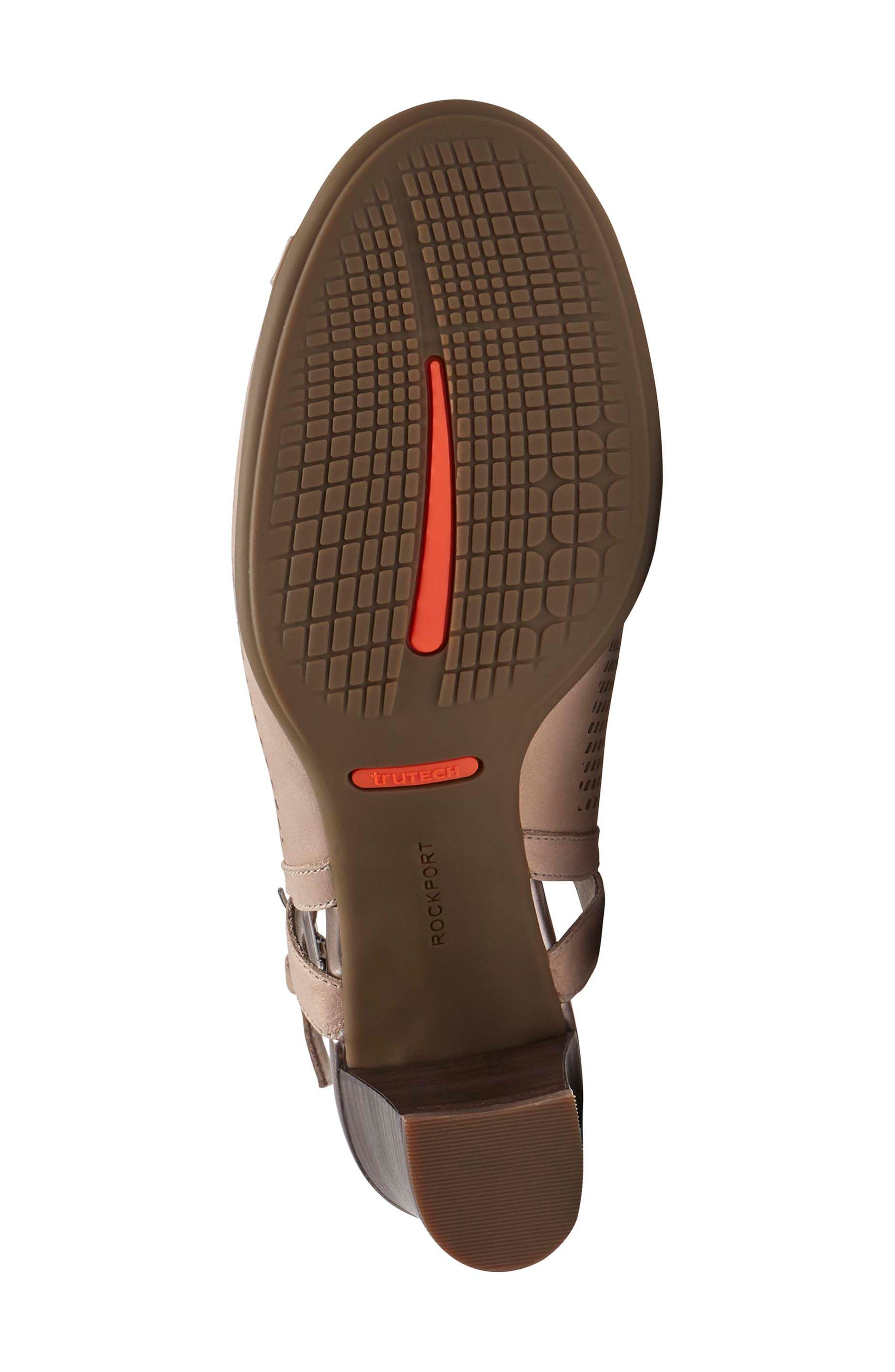 Total Motion Luxe Perforated Sandal,                             Alternate thumbnail 6, color,                             Dove Leather