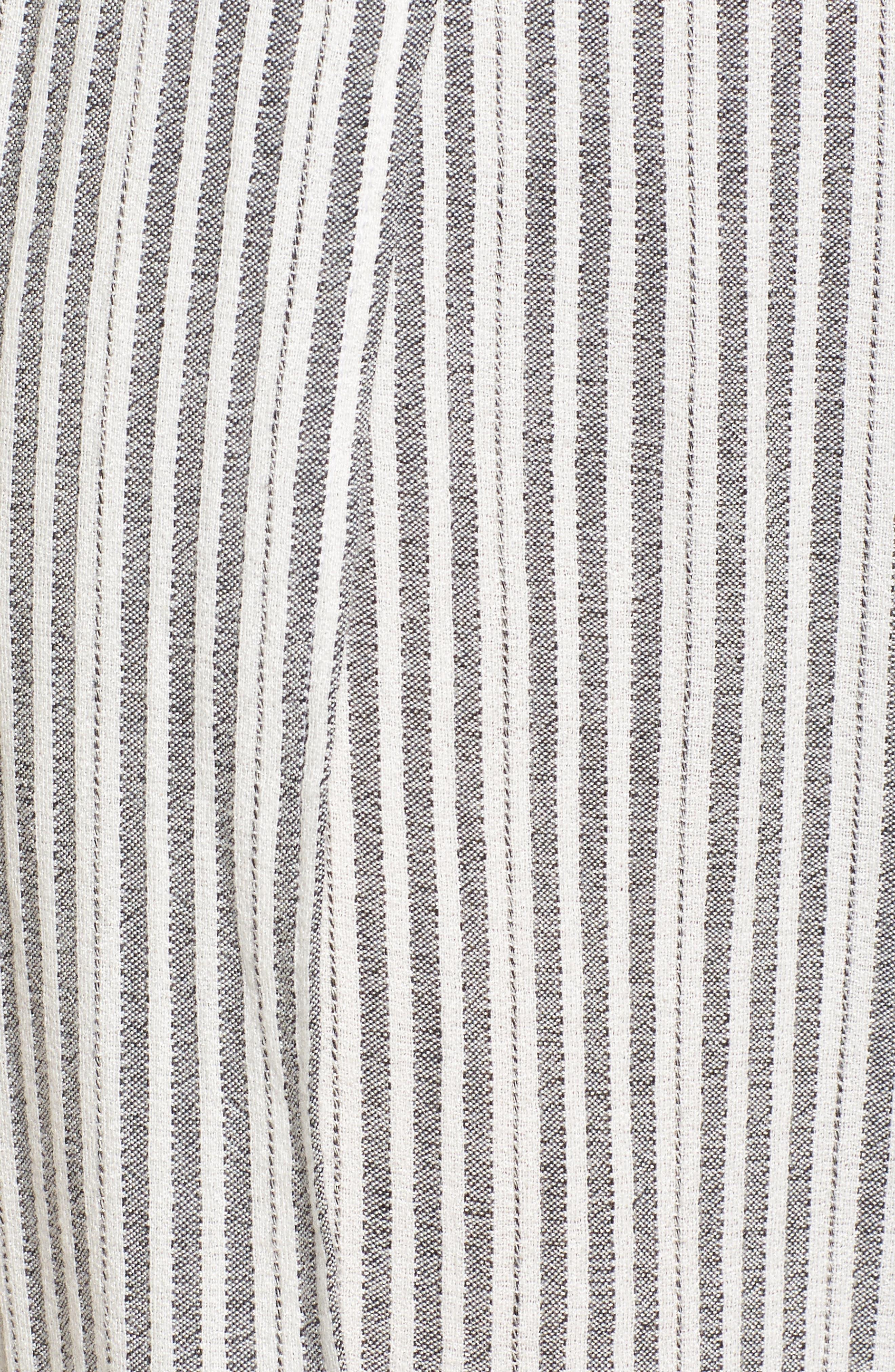 Kika Stripe Split Culottes,                             Alternate thumbnail 6, color,                             Grey