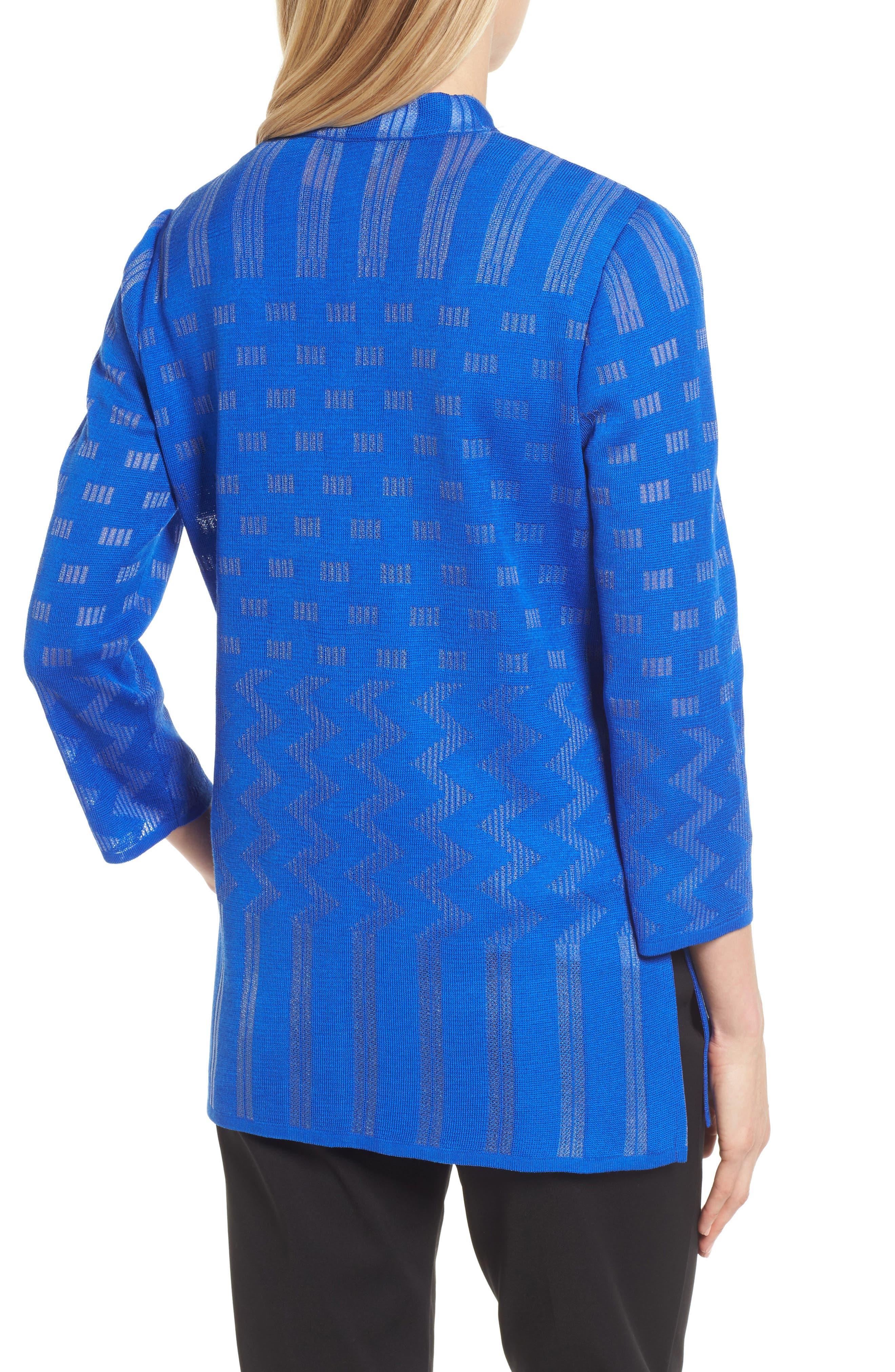Multi Pattern Long Jacket,                             Alternate thumbnail 2, color,                             Patriot Blue
